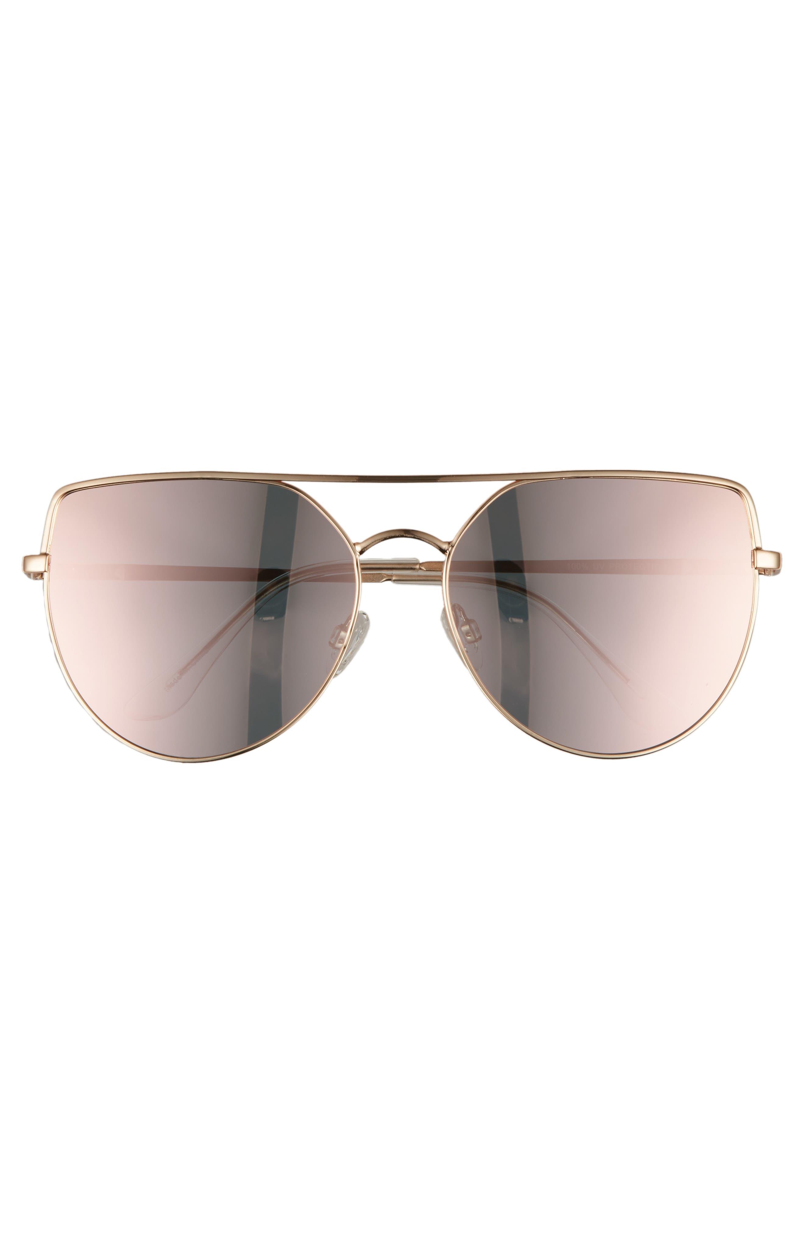60mm Aviator Sunglasses,                             Alternate thumbnail 3, color,                             220