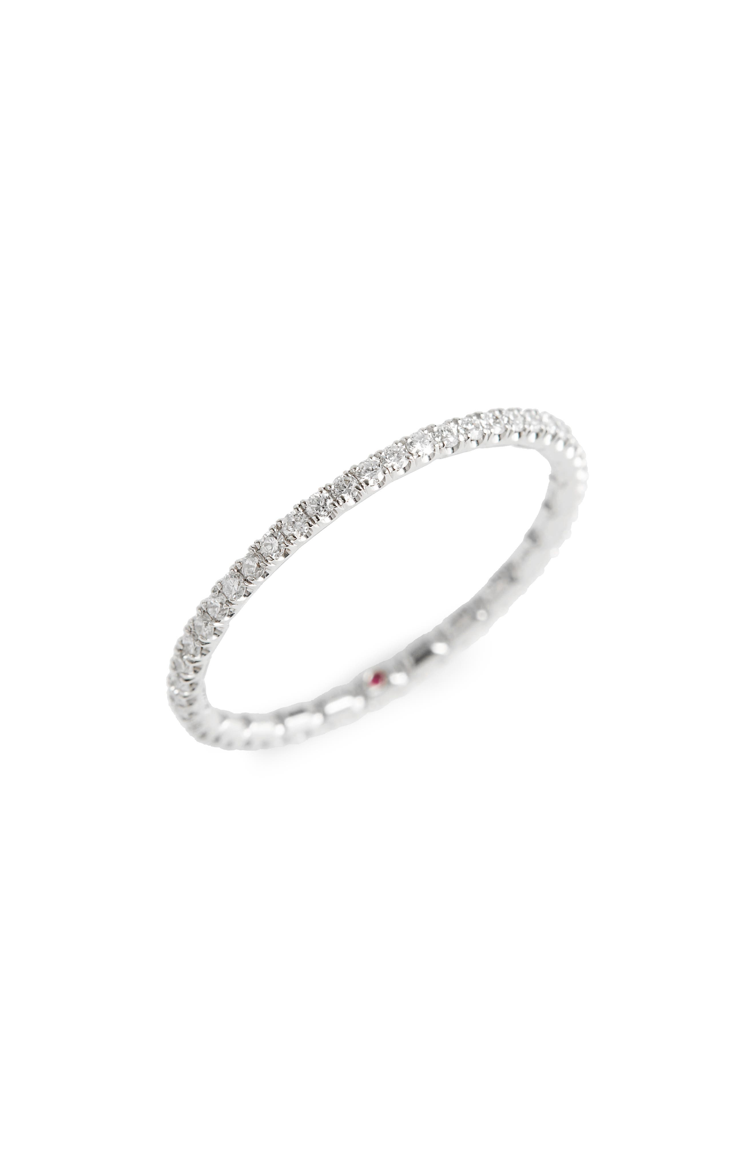 Diamond Pavé Ring,                             Main thumbnail 1, color,                             WHITE GOLD