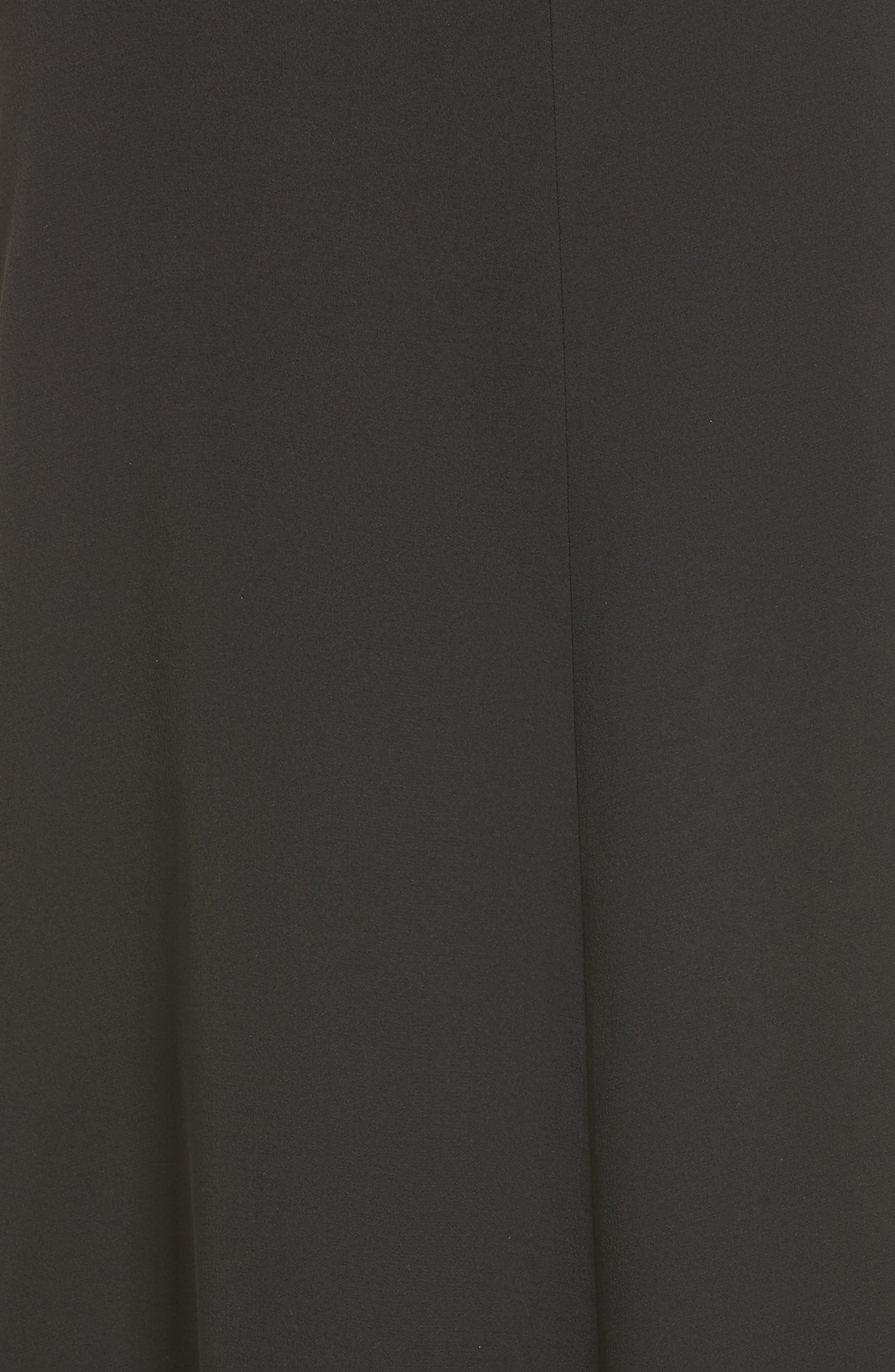 Silk A-Line Dress,                             Alternate thumbnail 5, color,                             001