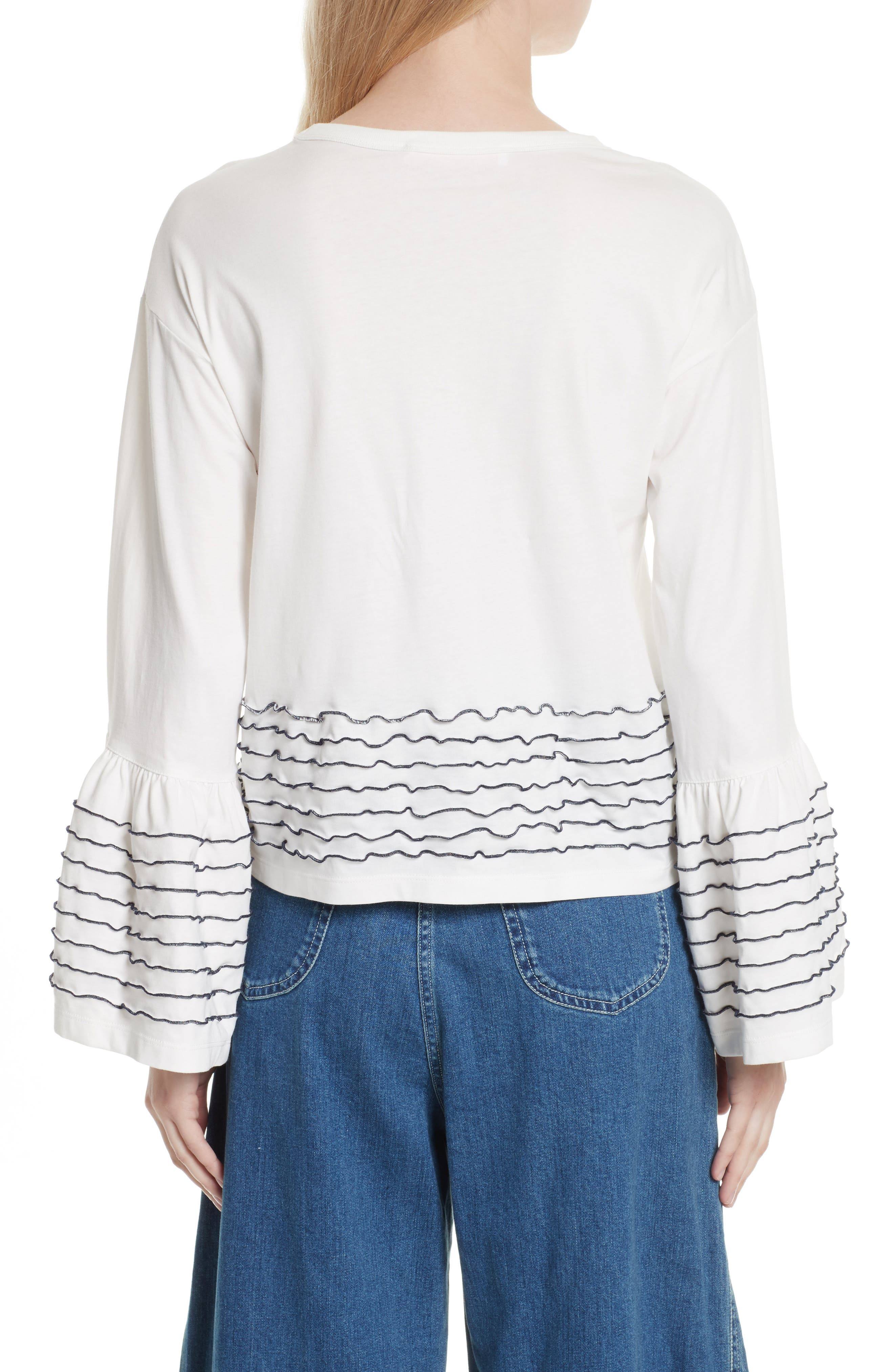 Stitched Cotton Top,                             Alternate thumbnail 2, color,