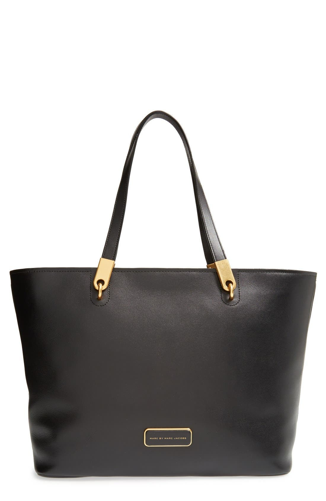 MARC BY MARC JACOBS 'Ligero' Leather Tote, Main, color, 001