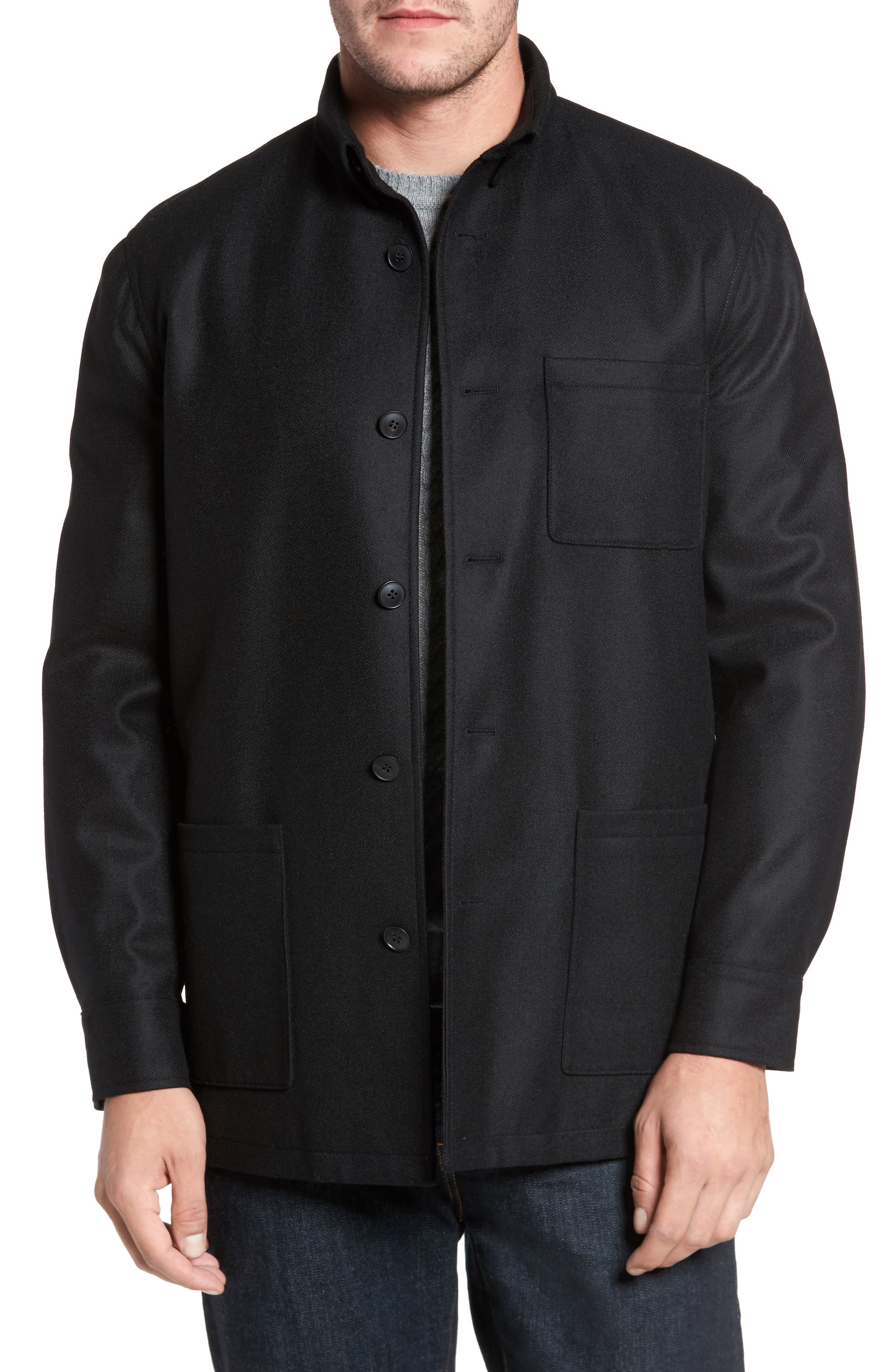 Loro Piana Storm System Shirt Jacket,                             Main thumbnail 1, color,                             002