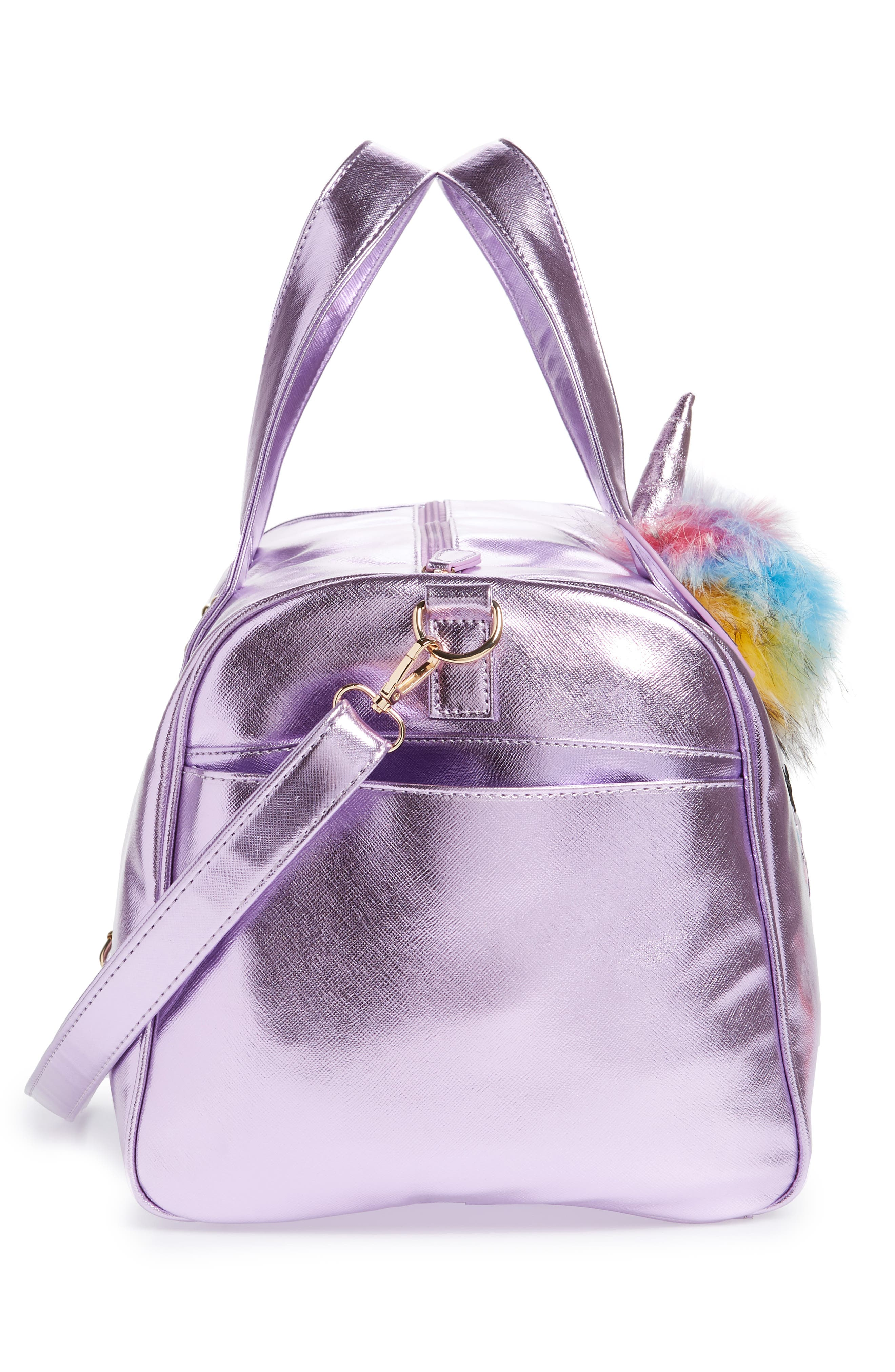 Duffel Bag,                             Alternate thumbnail 4, color,                             PURPLE