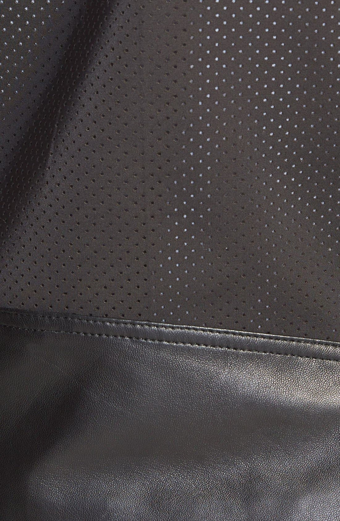 Wes Neoprene Panel Moto Jacket,                             Alternate thumbnail 3, color,                             001