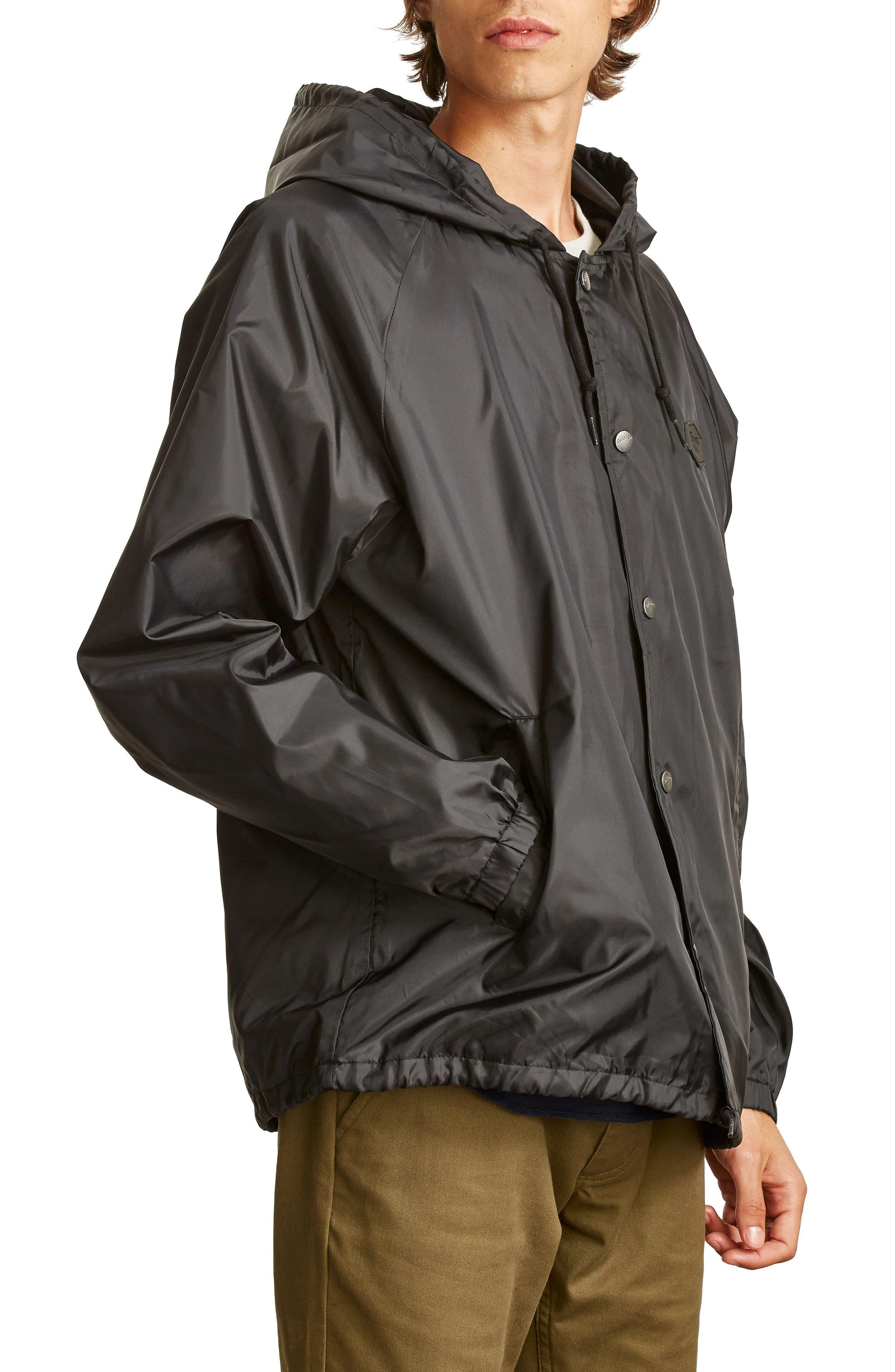 Hark Water-Resistant Coach's Jacket,                             Alternate thumbnail 3, color,                             001