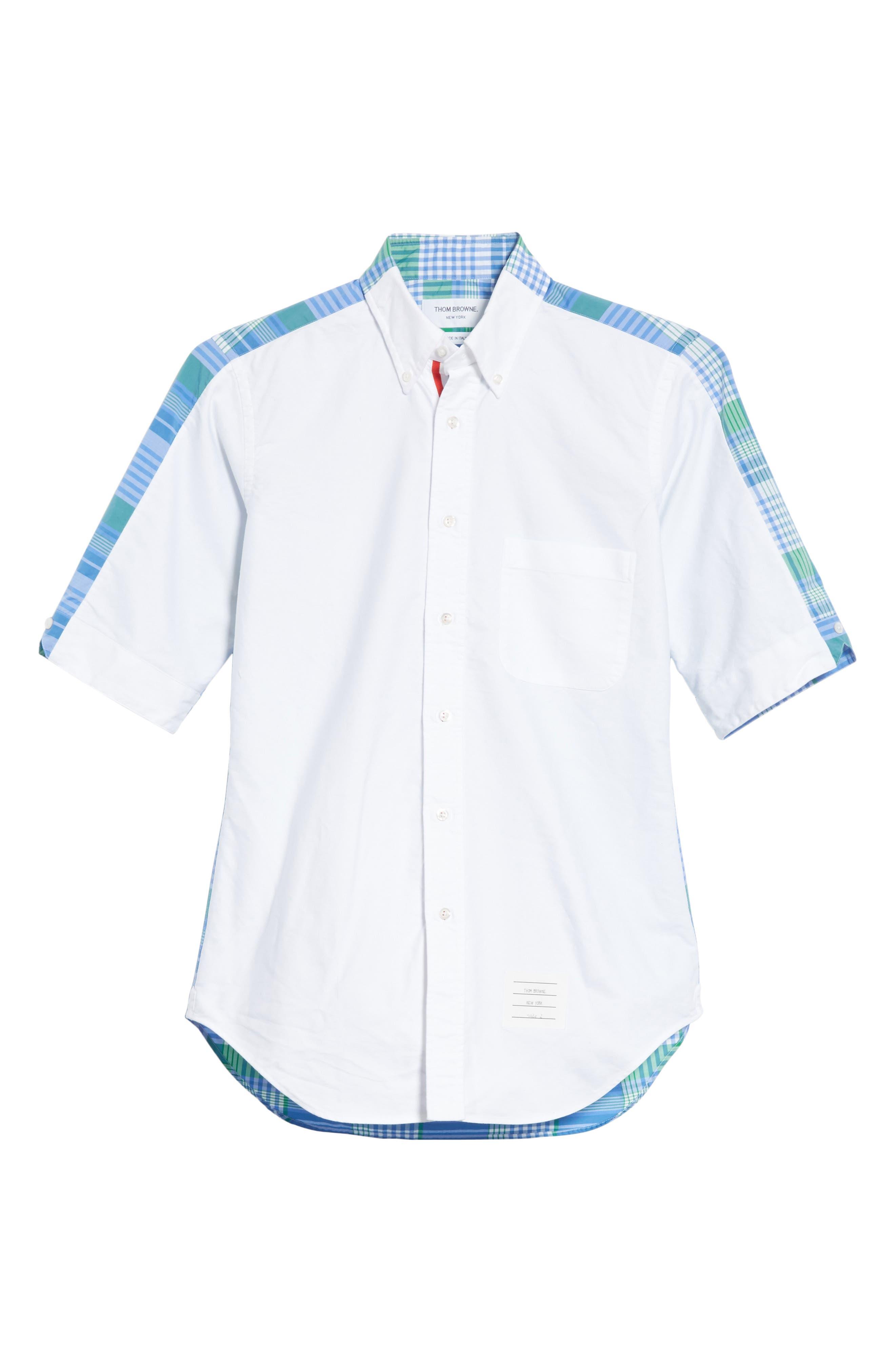 Solid & Plaid Woven Shirt,                             Alternate thumbnail 6, color,                             470