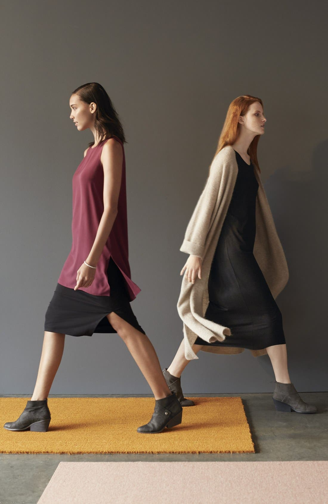 Scoop Neck Jersey Midi Dress,                             Alternate thumbnail 7, color,                             024