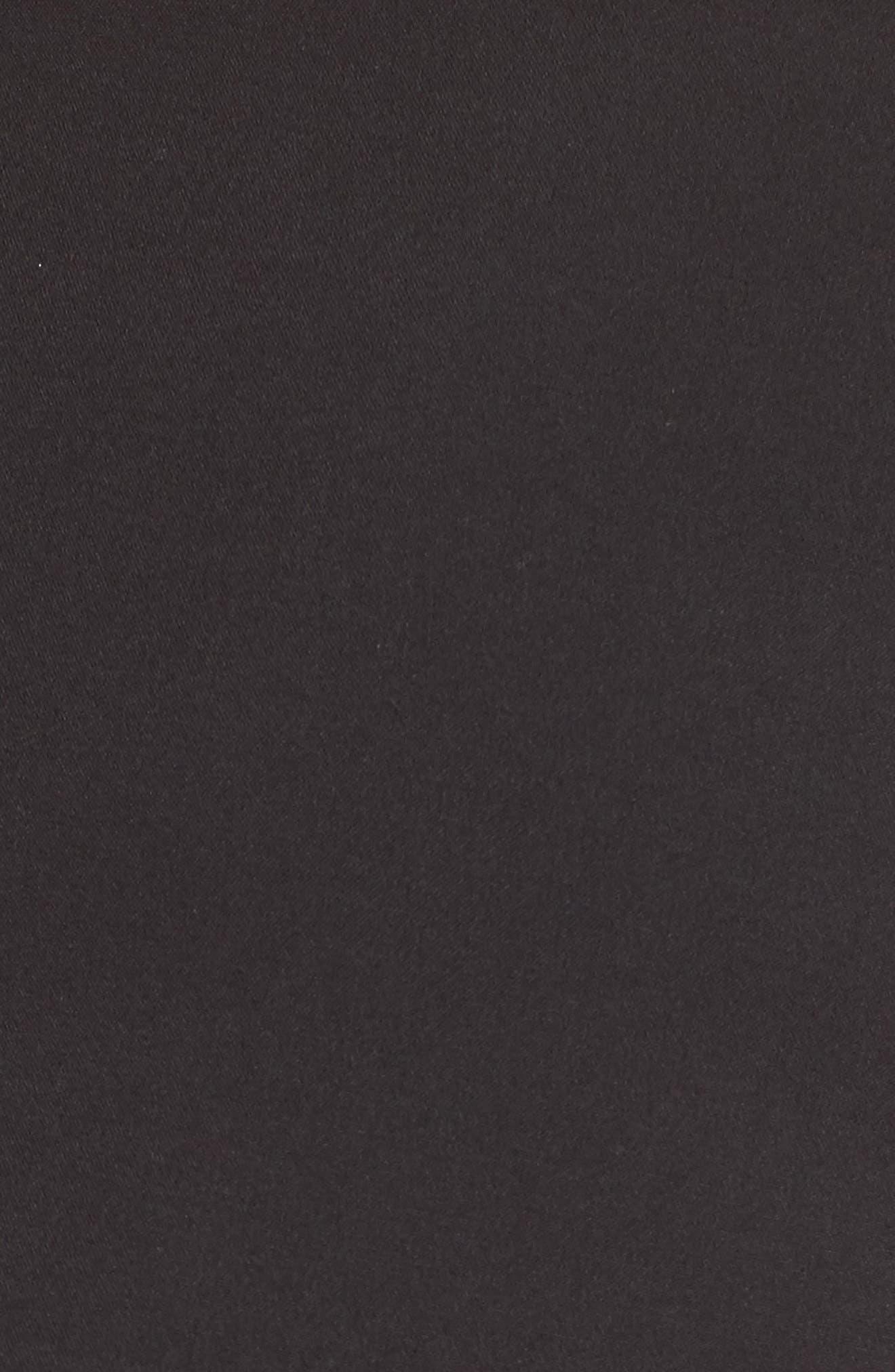 Popover Midi Dress,                             Alternate thumbnail 6, color,                             BLACK