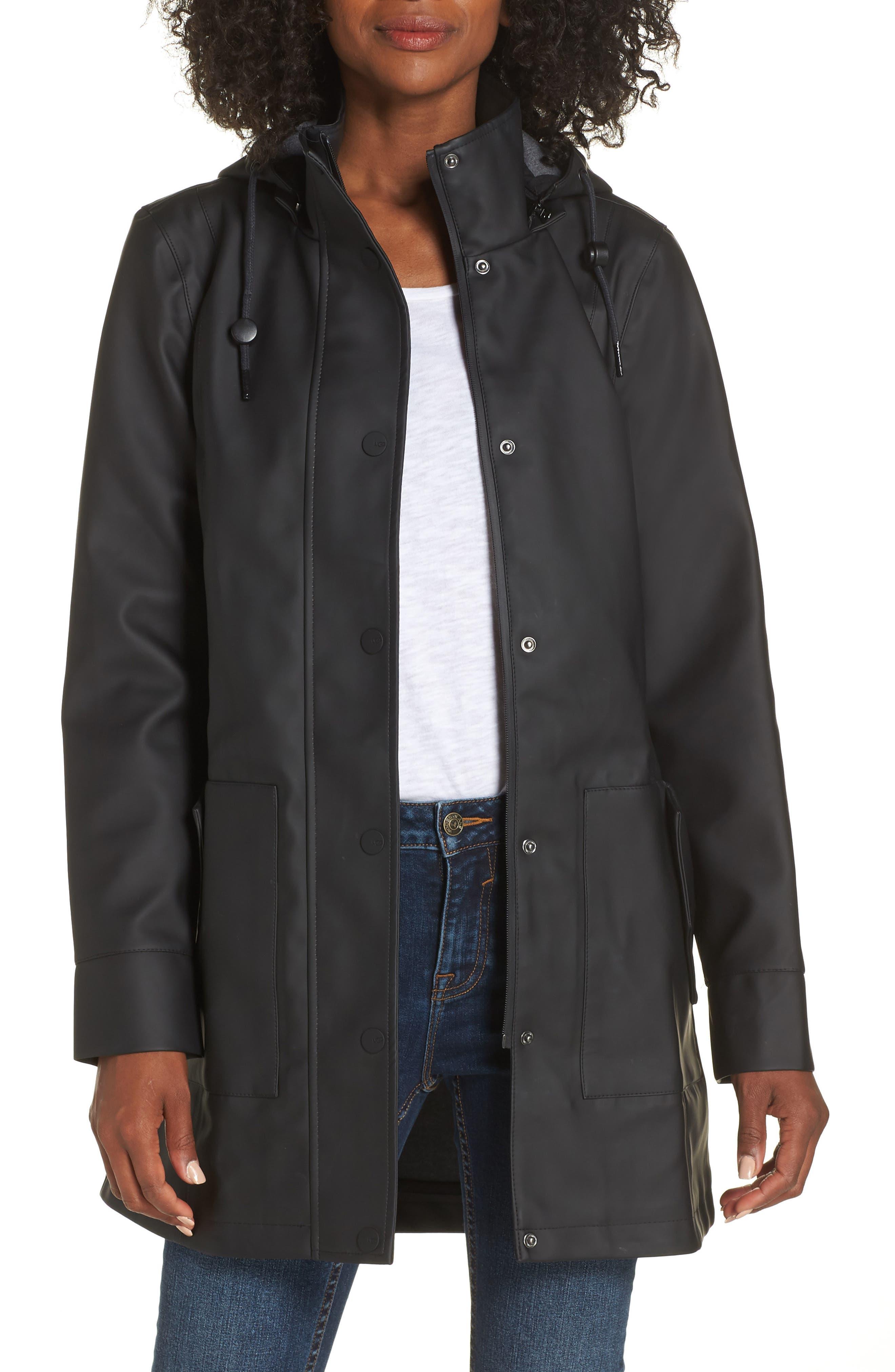 UGG<SUP>®</SUP> Rylie Rain Jacket, Main, color, 001