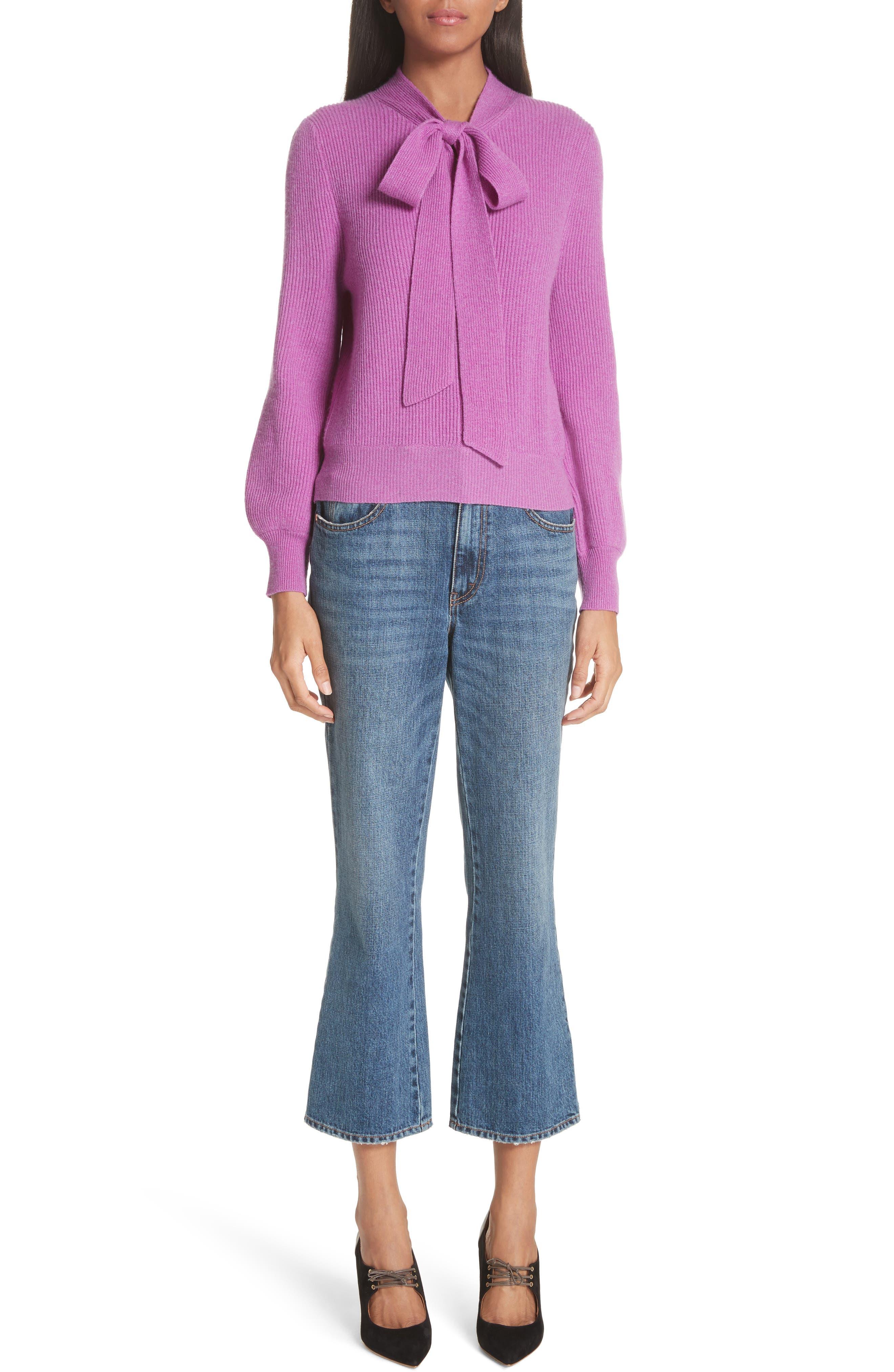 CO,                             Tie Neck Cashmere Sweater,                             Alternate thumbnail 7, color,                             679