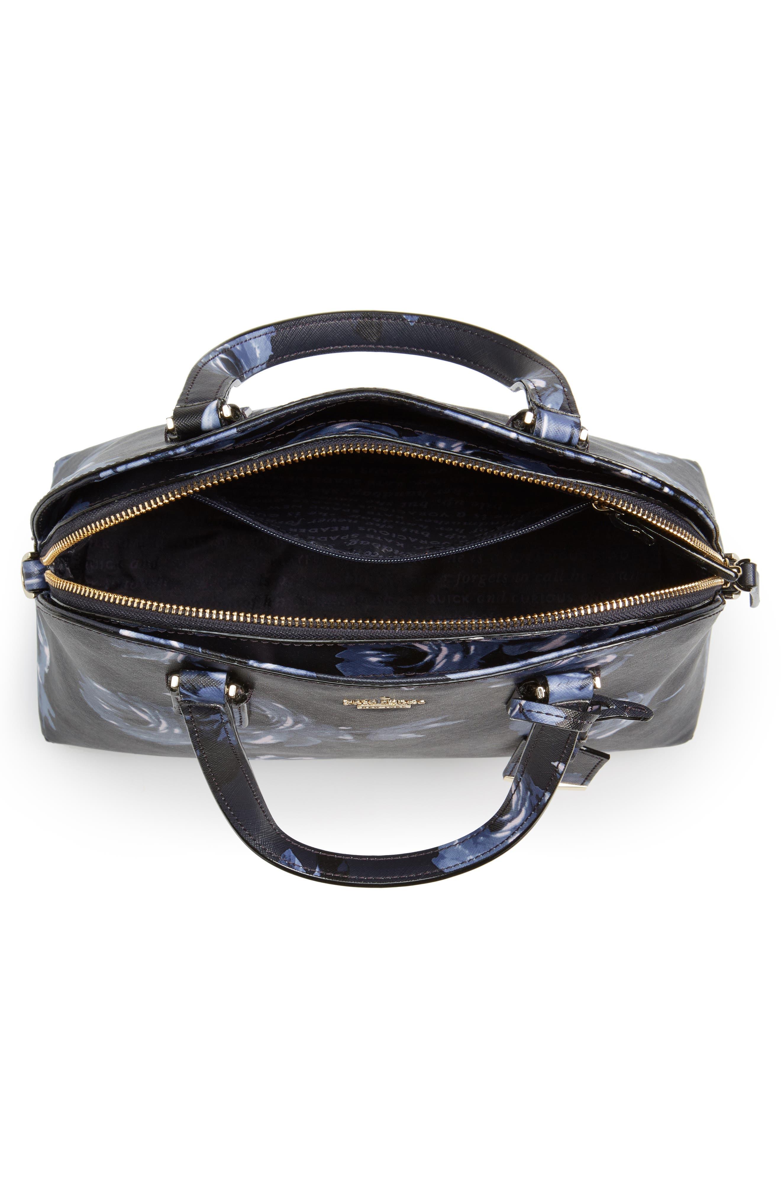 cameron street lottie floral faux leather satchel,                             Alternate thumbnail 4, color,                             458