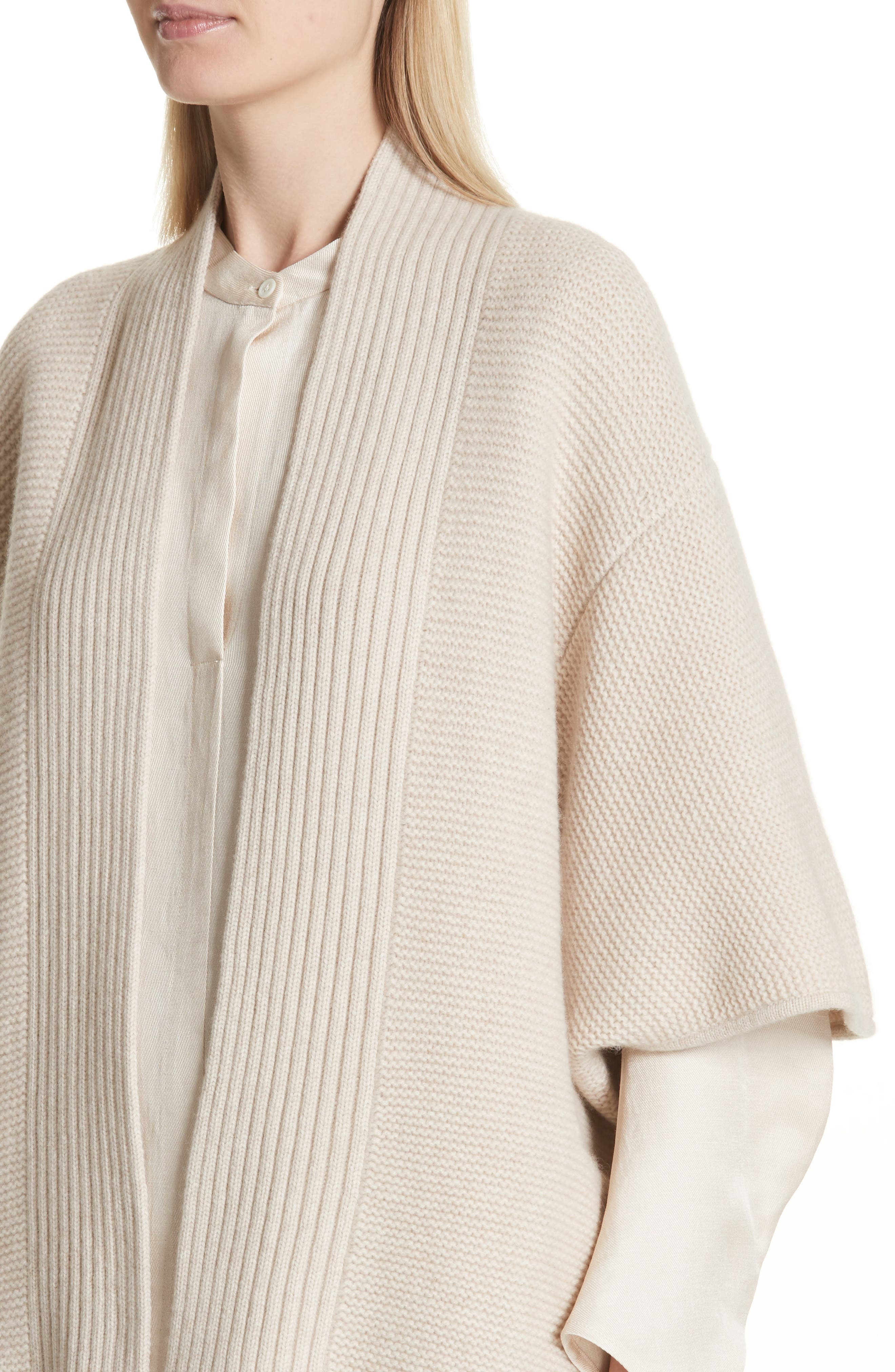 Cashmere & Merino Wool Cardigan,                             Alternate thumbnail 4, color,