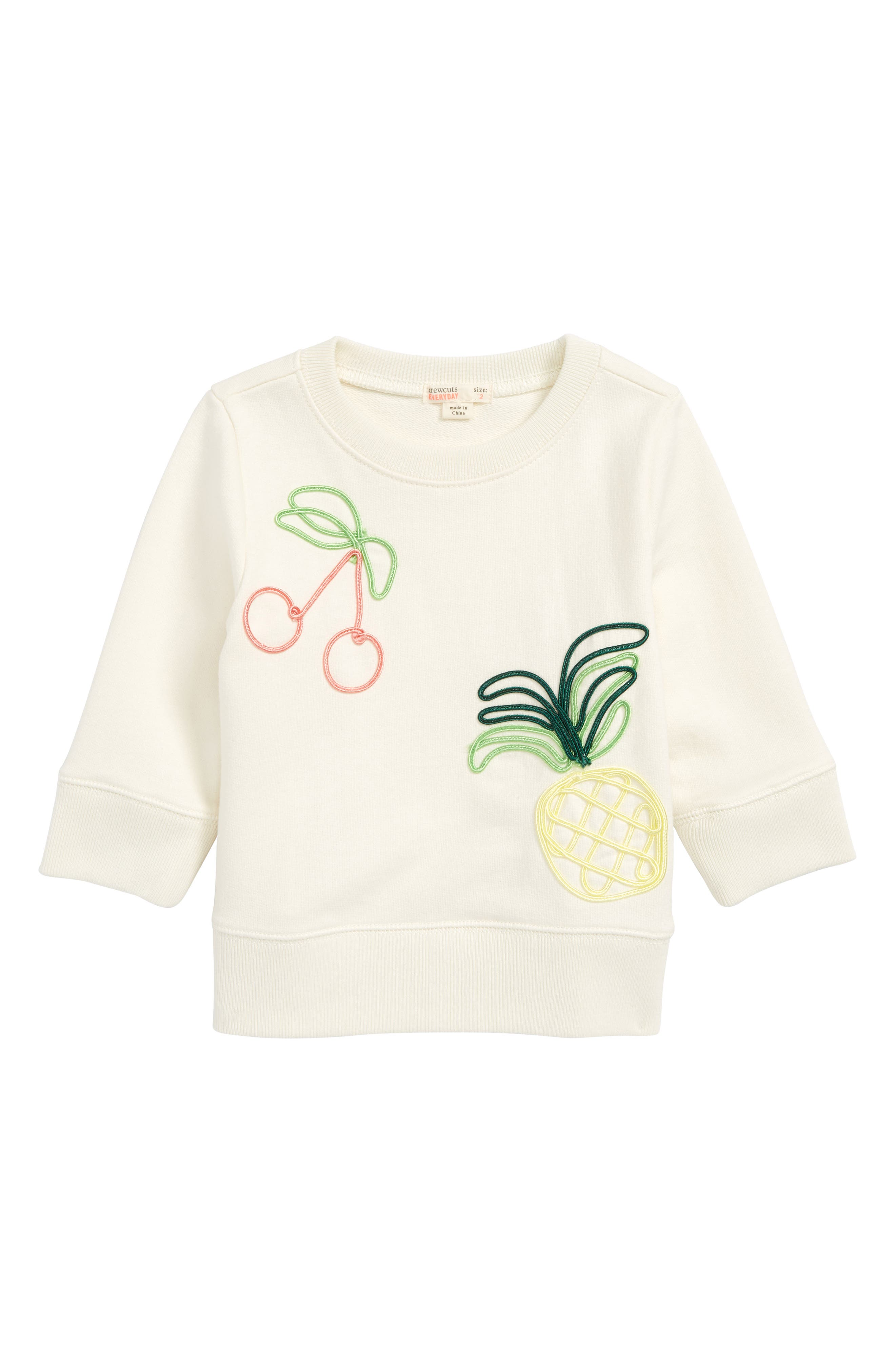 Embroidered Fruit Sweatshirt,                             Main thumbnail 1, color,                             900