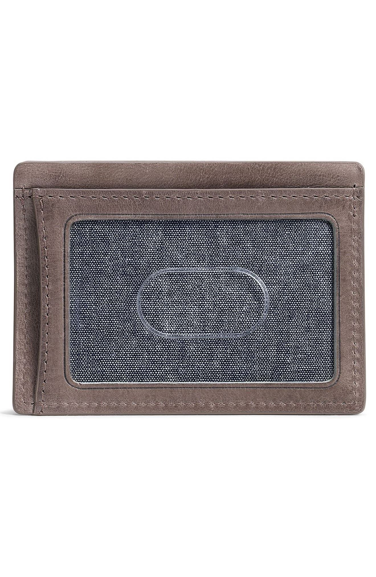 TRASK,                             Canyon Leather Card Case,                             Alternate thumbnail 2, color,                             GREY