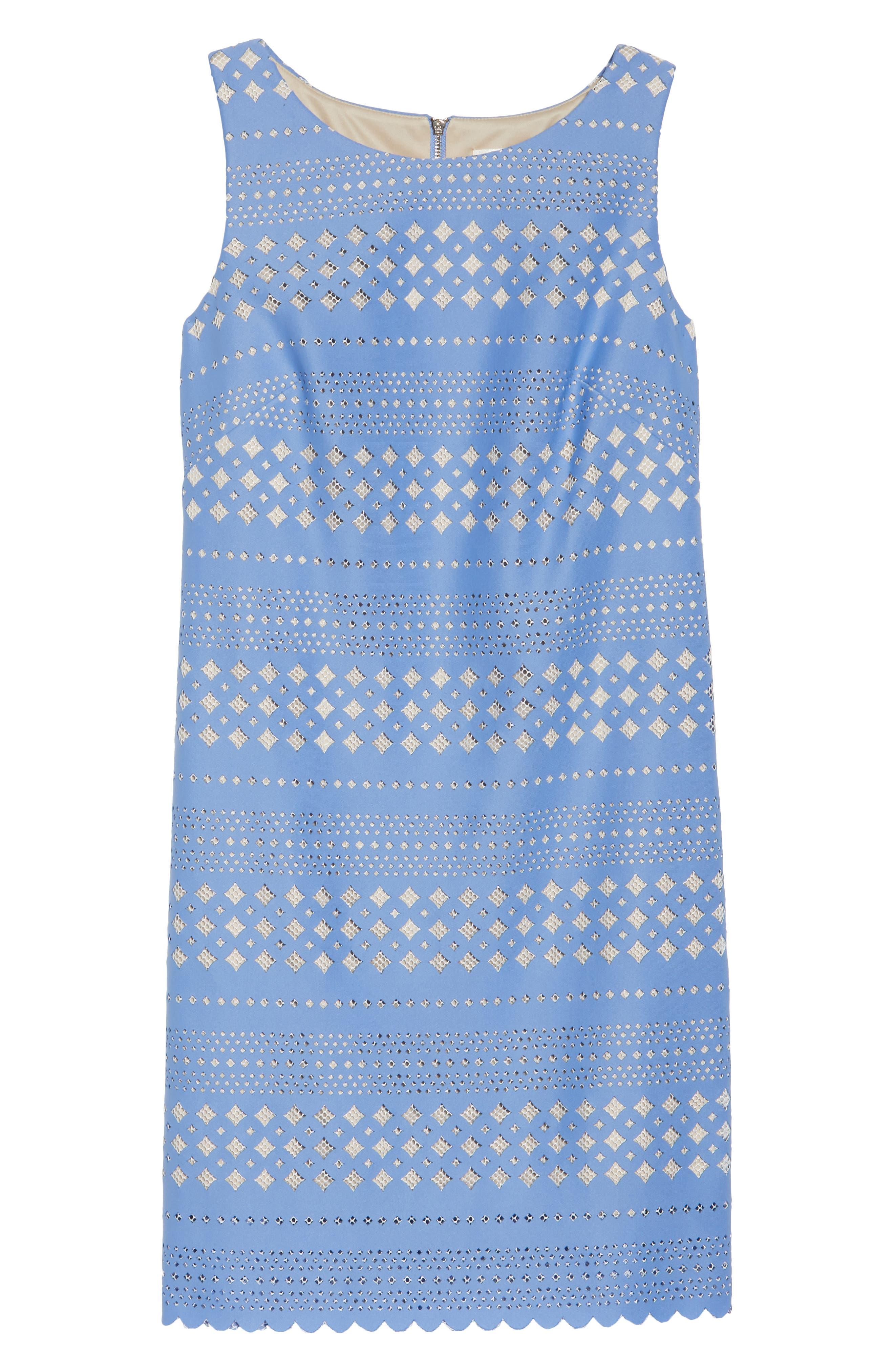 Laser Cut Sheath Dress,                             Alternate thumbnail 6, color,                             453