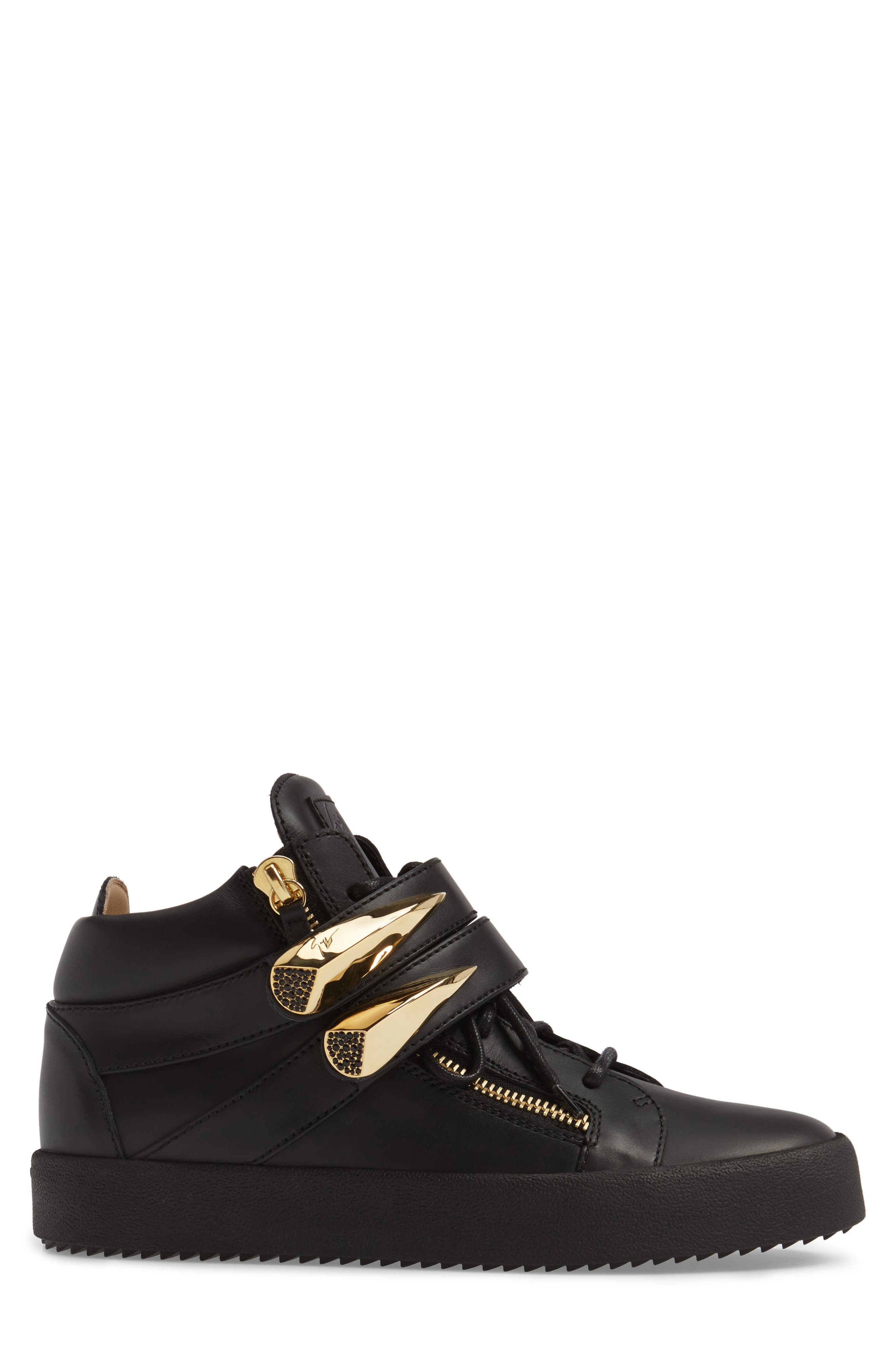Gold Horn Mid Top Sneaker,                             Alternate thumbnail 3, color,