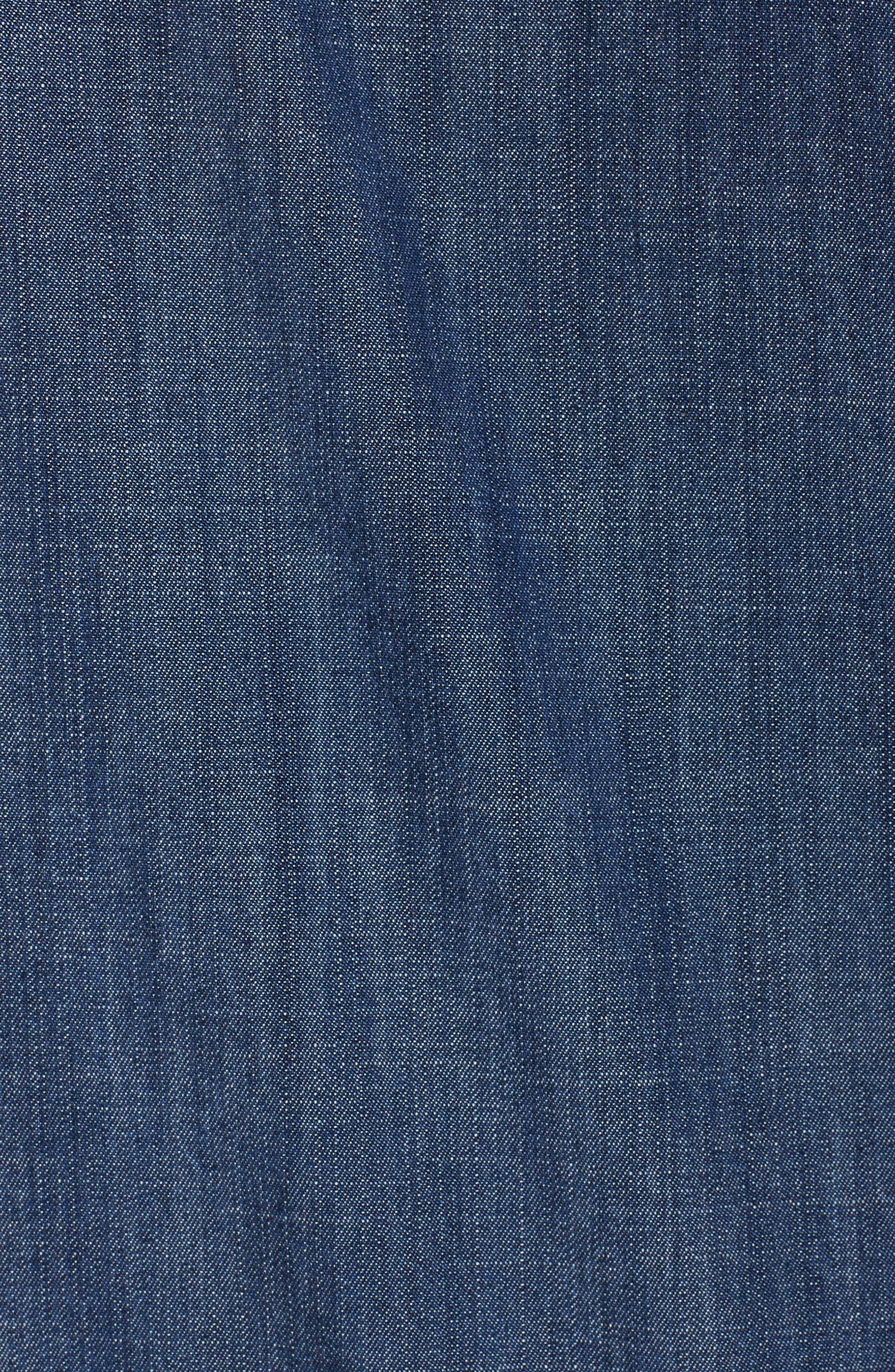 Denim Kimono Jacket,                             Alternate thumbnail 6, color,                             419