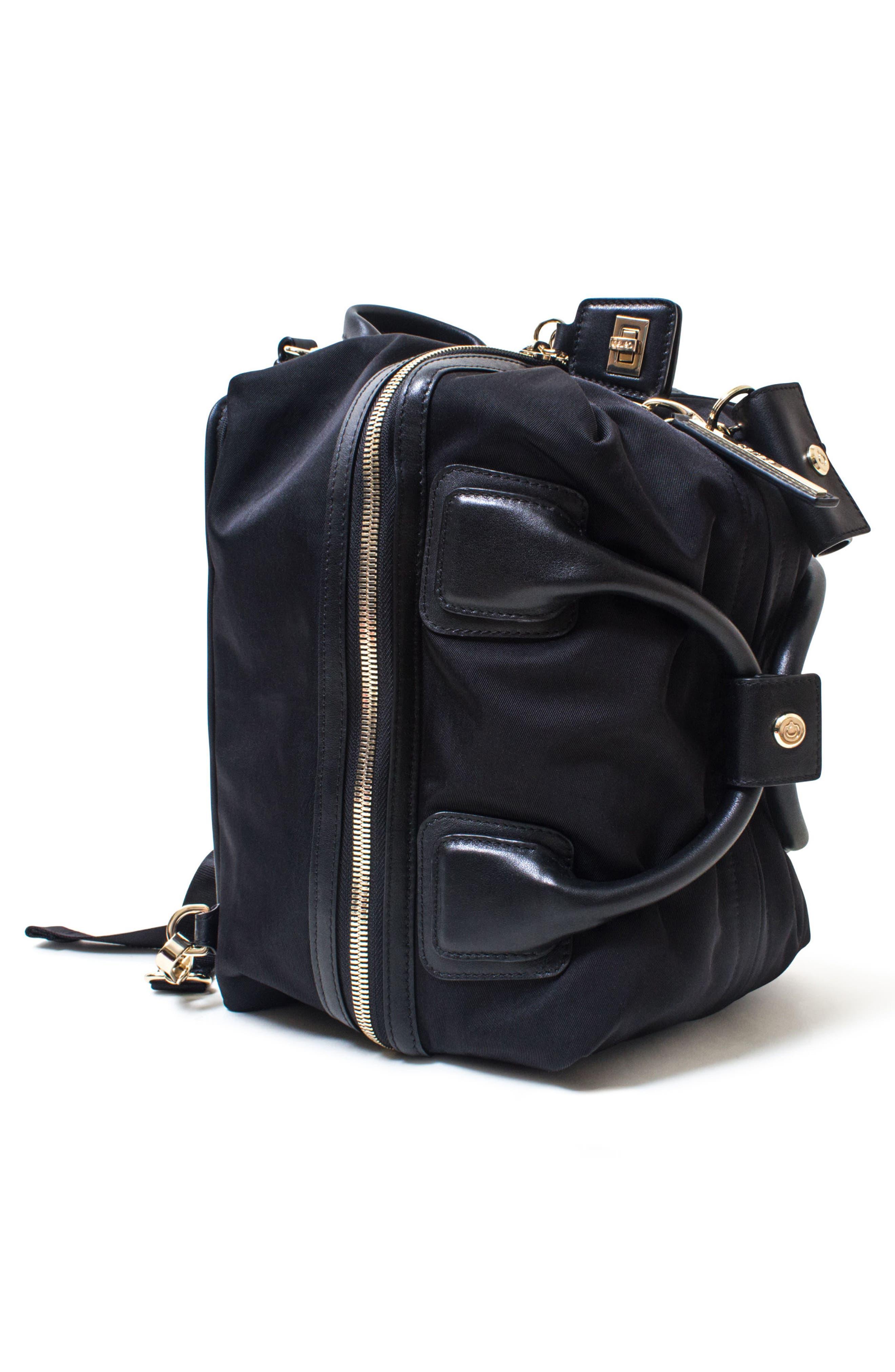 Studio Duffel Backpack,                             Alternate thumbnail 3, color,                             BLACK/ GOLD