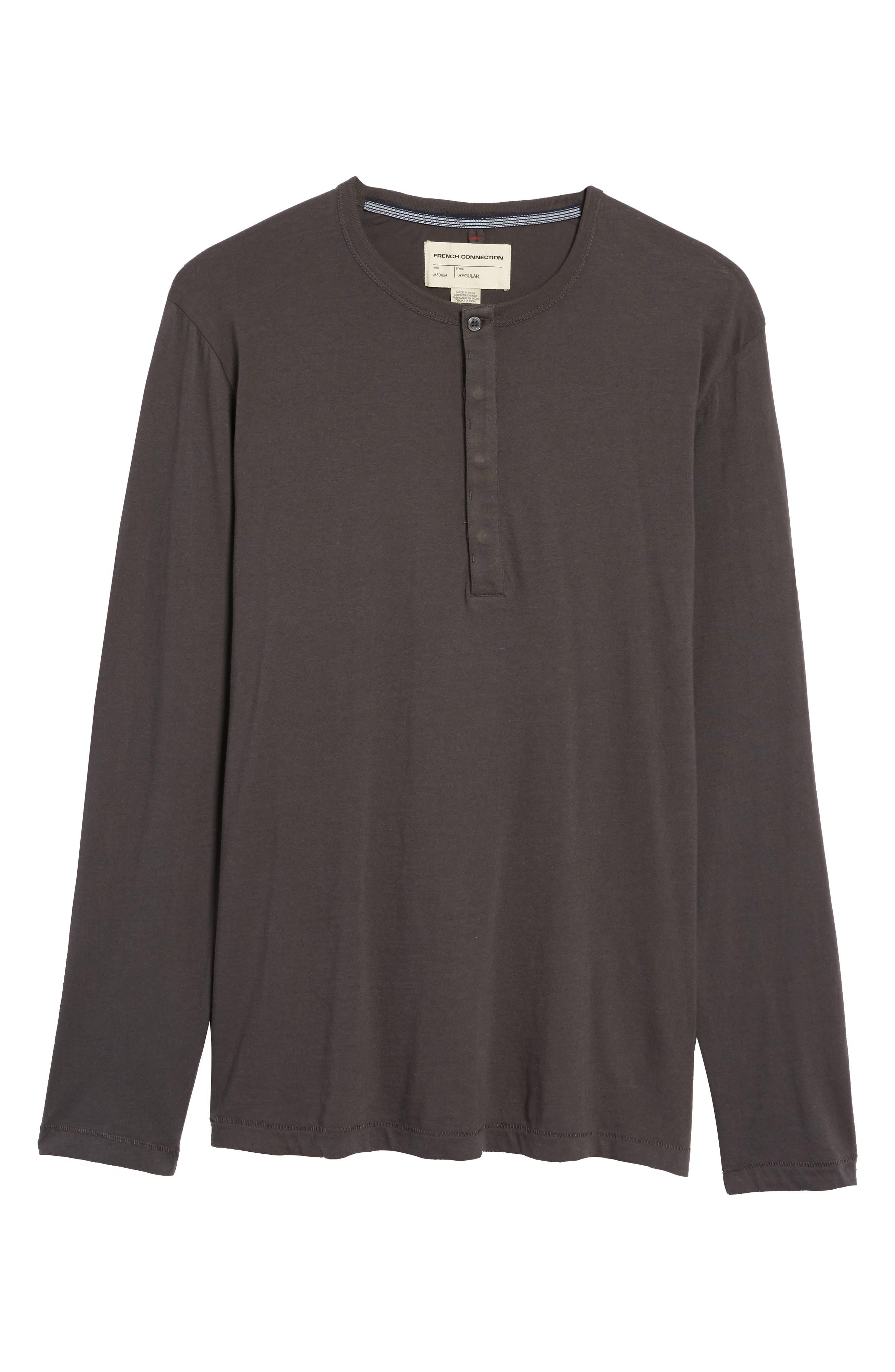 Long-Sleeve Henley T-Shirt,                             Alternate thumbnail 6, color,                             020