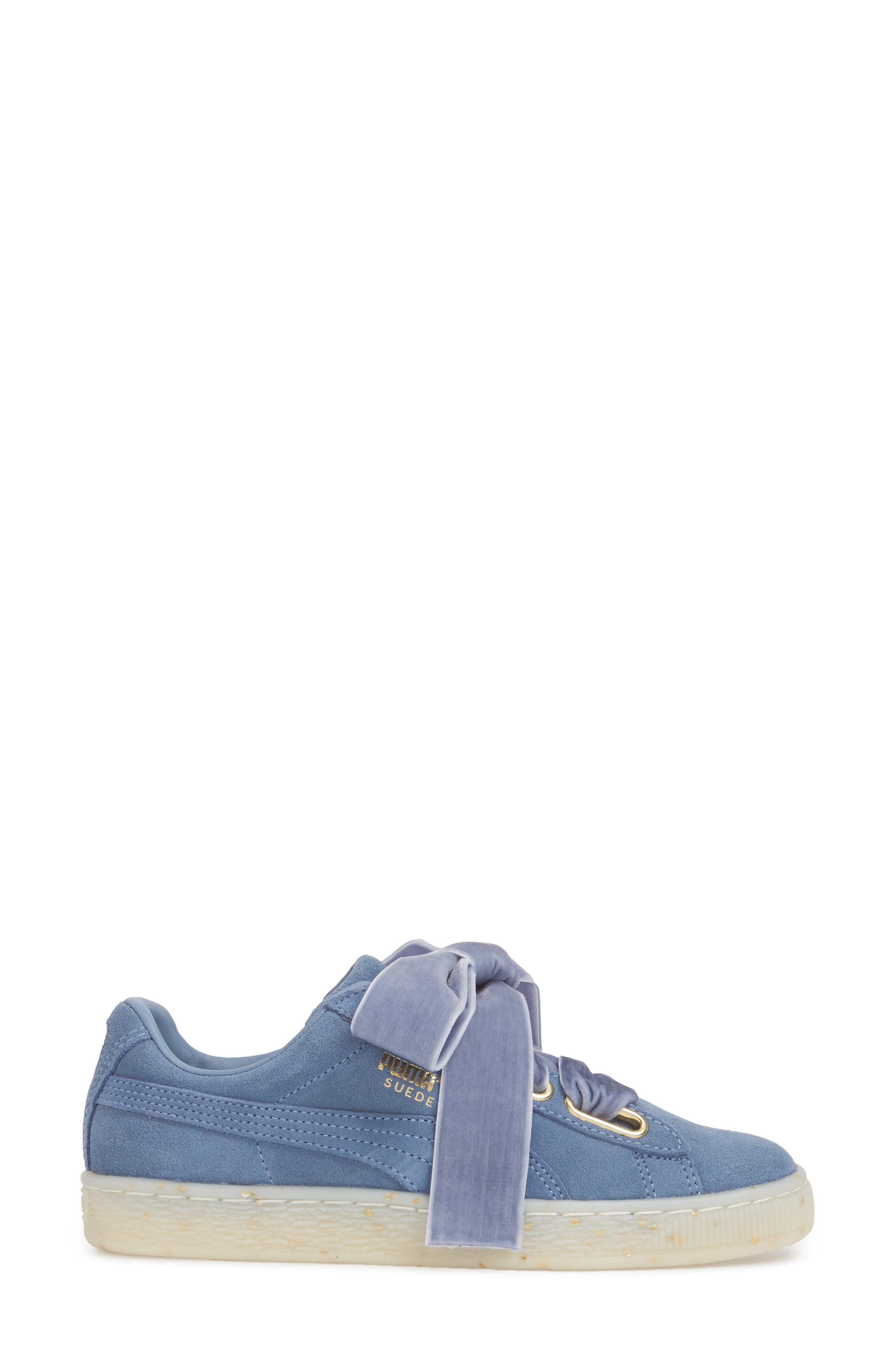 Suede - Heart Sneaker,                             Alternate thumbnail 18, color,