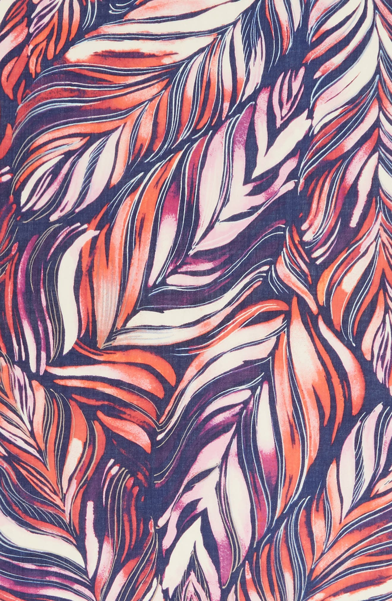 Eyelash Trim Print Cashmere & Silk Wrap,                             Alternate thumbnail 108, color,