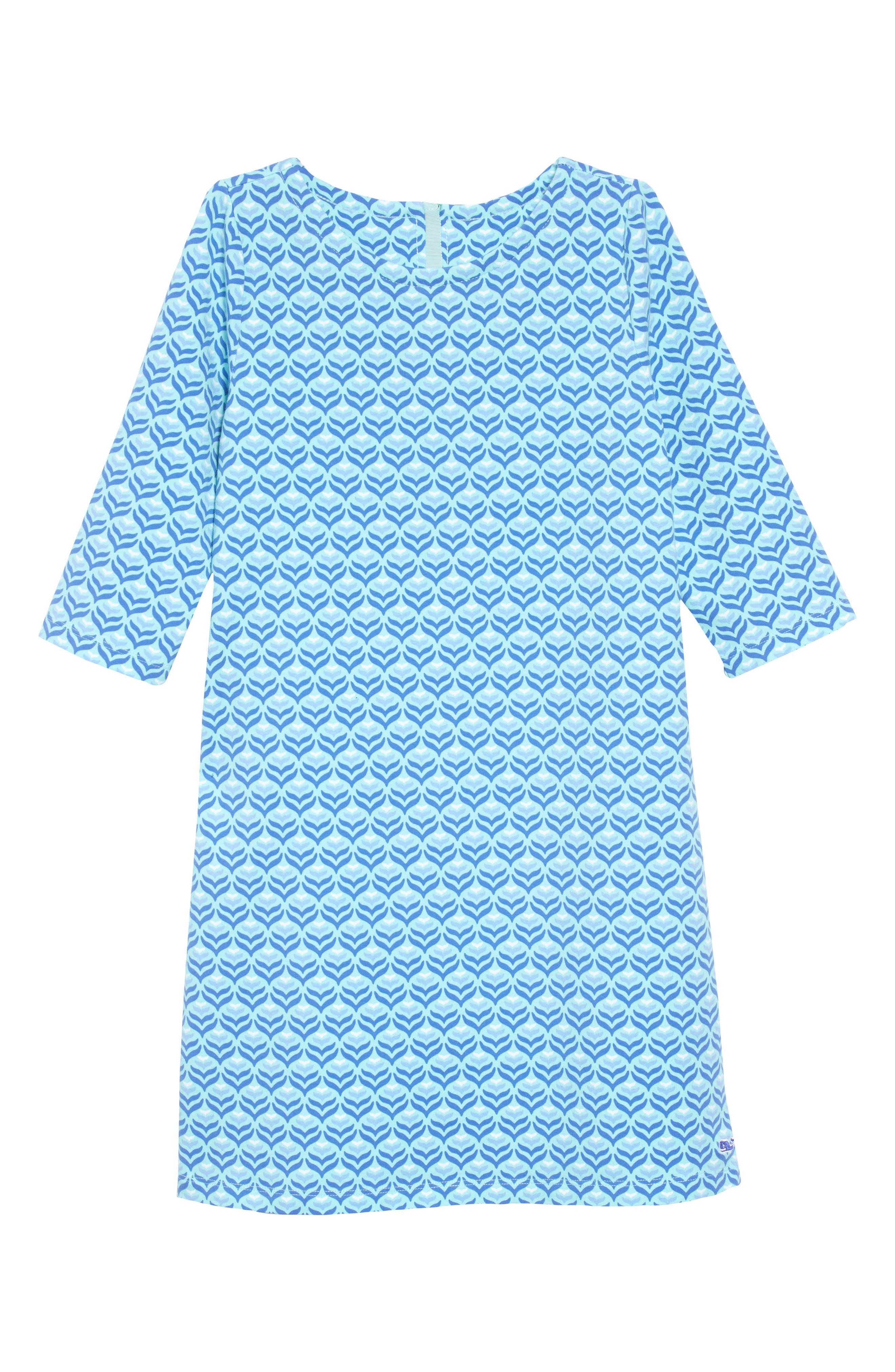 Diamond Whale Tale Shift Dress,                             Main thumbnail 1, color,                             CAICOS