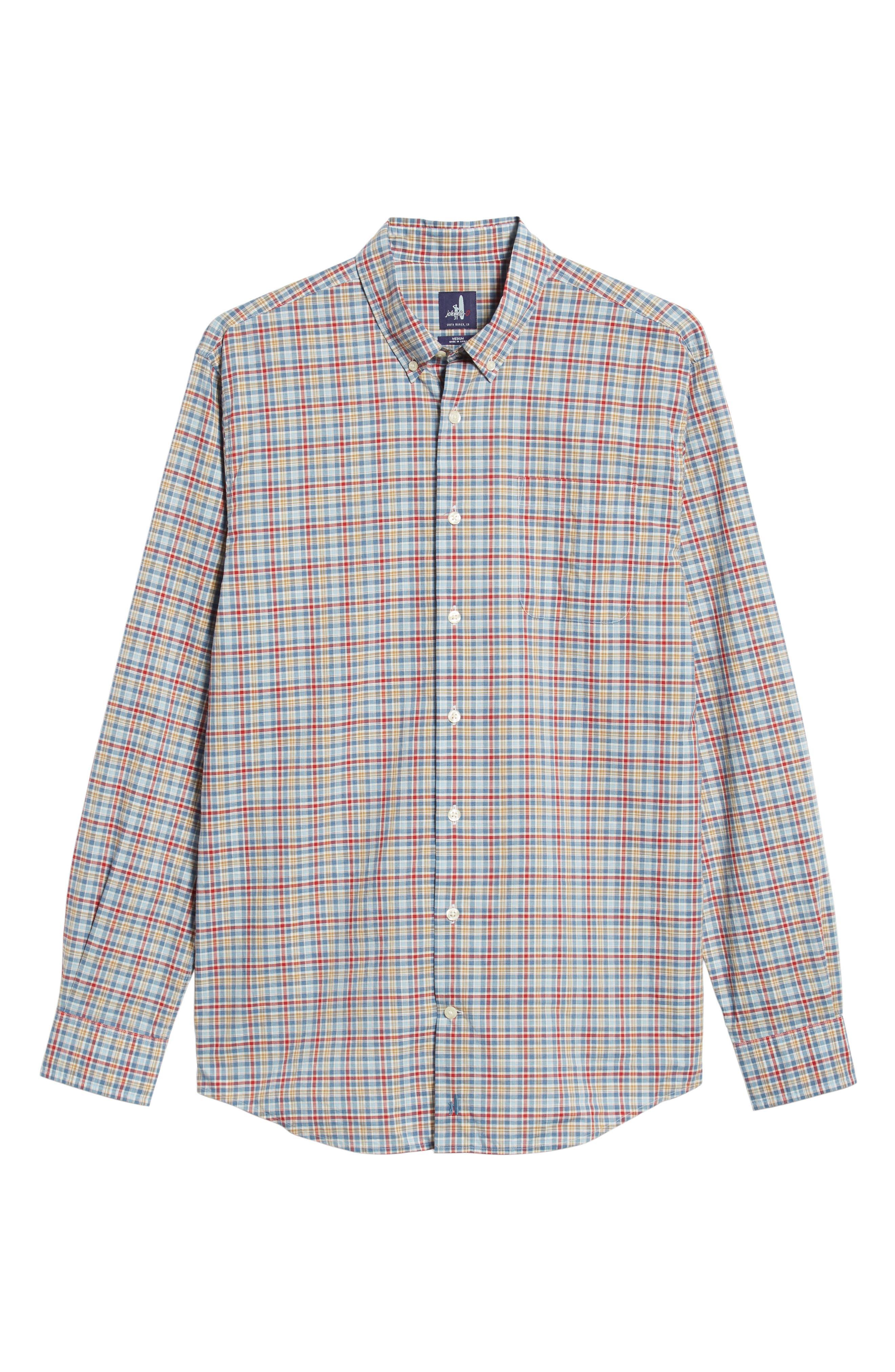 Ellis Classic Fit Sport Shirt,                             Alternate thumbnail 5, color,                             MARINER