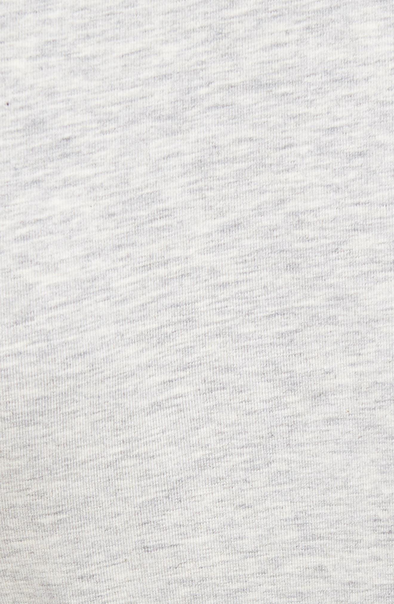 Classic Liquid Cotton Stretch Pants,                             Alternate thumbnail 5, color,                             HEATHER GREY