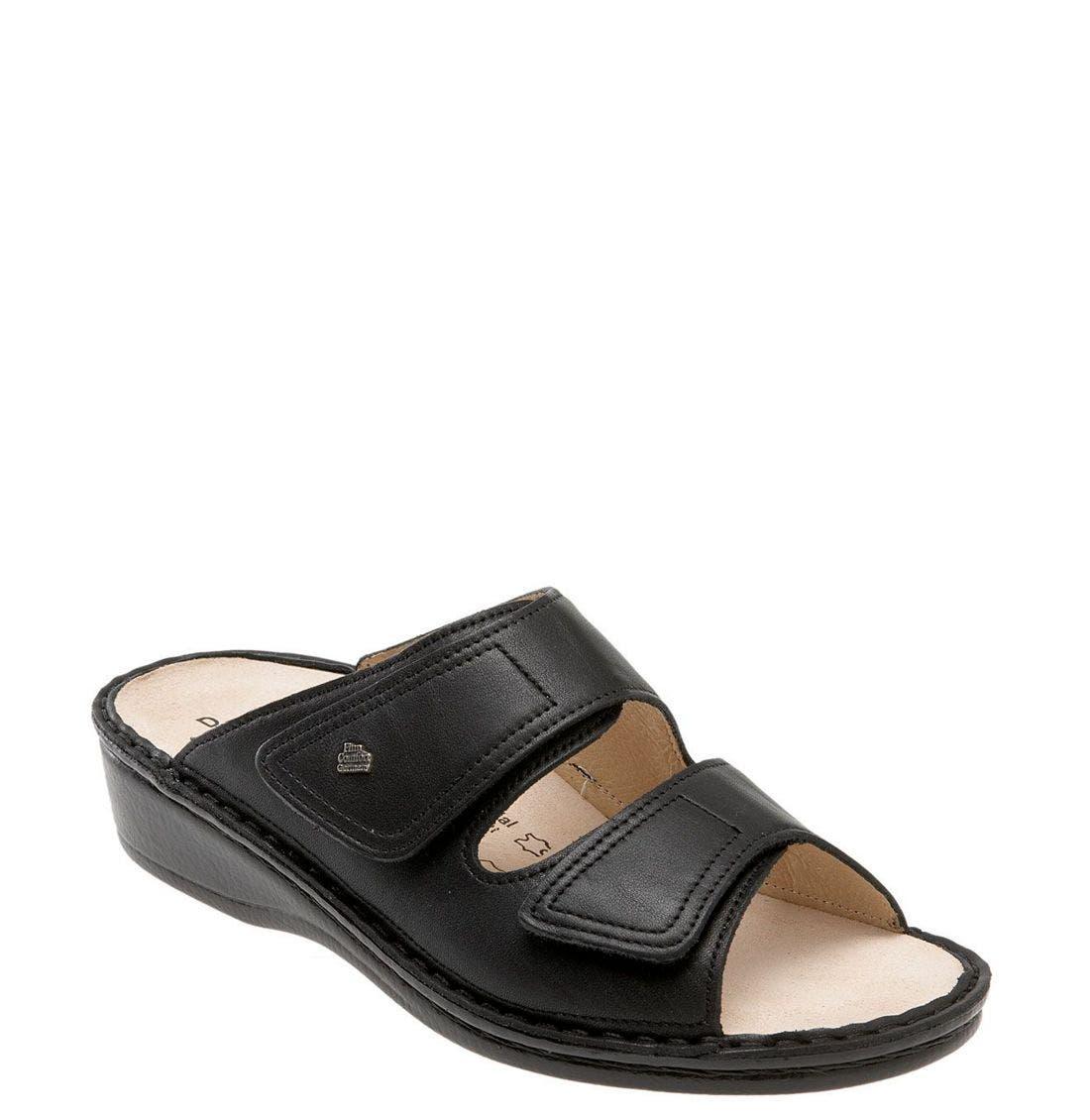 'Jamaica' Sandal,                         Main,                         color, BLACK NAPPA