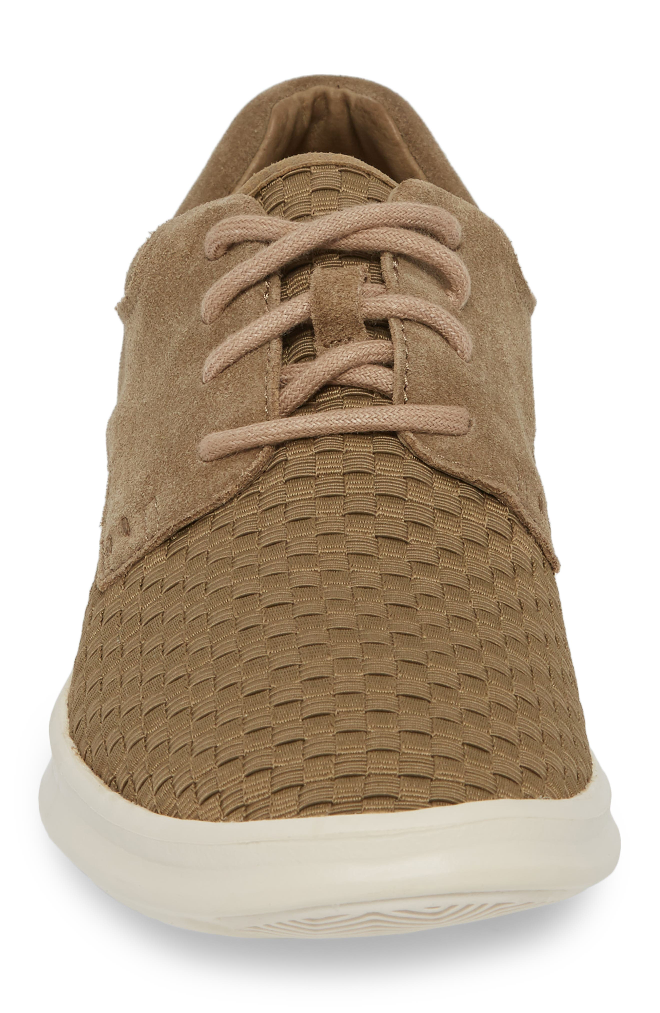 UGG<SUP>®</SUP>,                             'Hepner' Woven Sneaker,                             Alternate thumbnail 4, color,                             ANTILOPE LEATHER