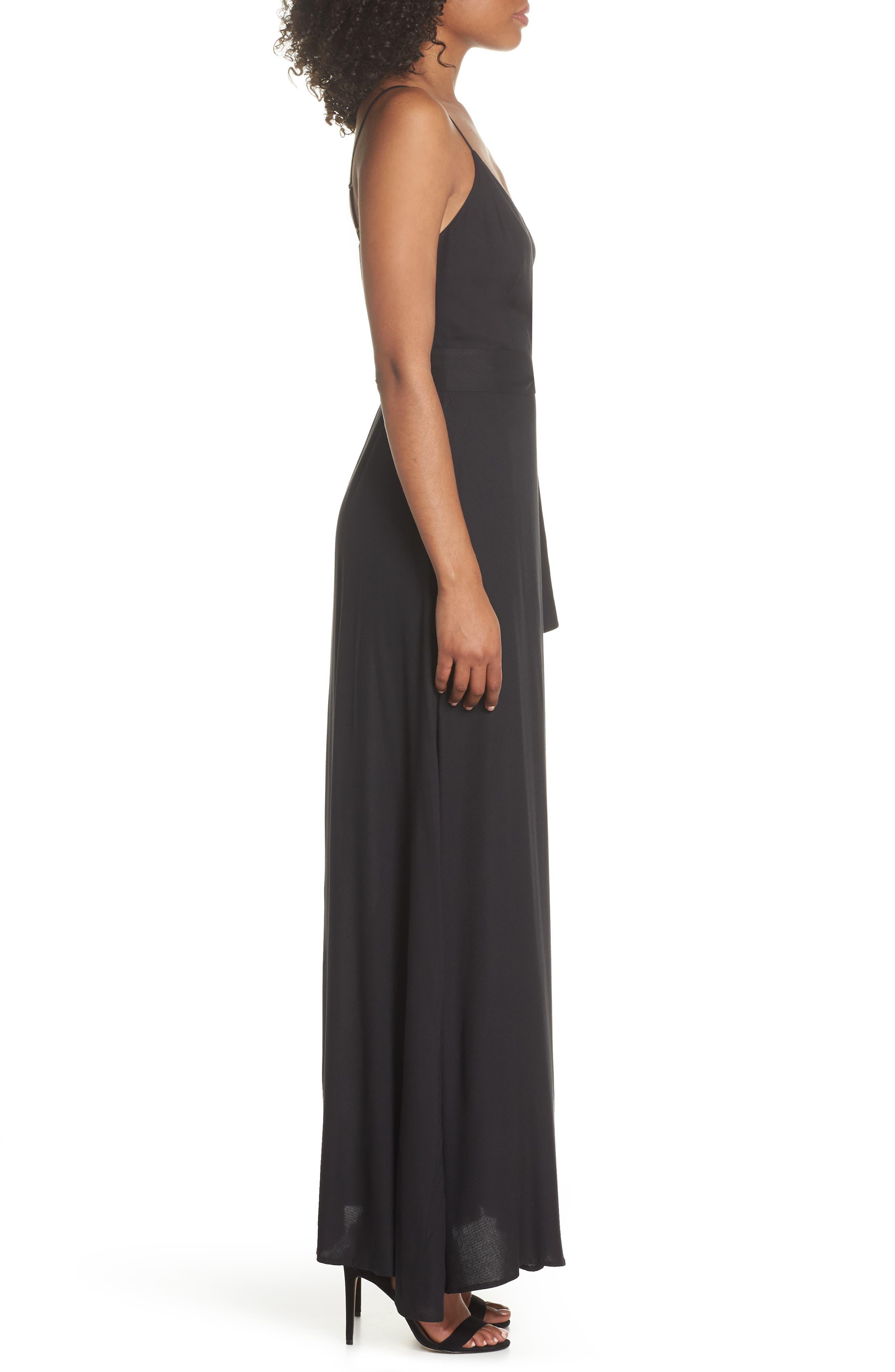 Regina Sleeveless Maxi Dress,                             Alternate thumbnail 3, color,                             001