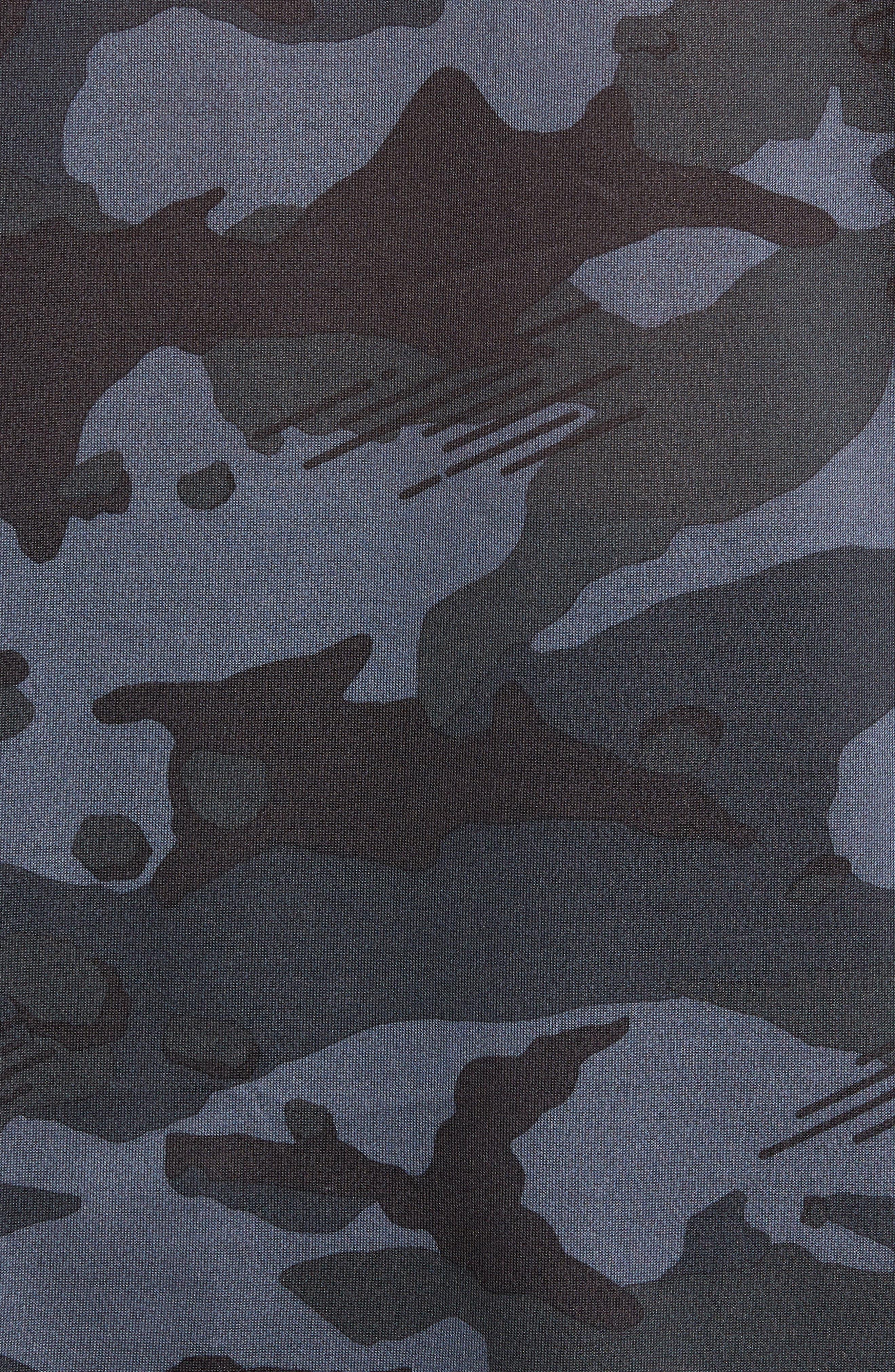 Dry Long Sleeve Camo T-Shirt,                             Alternate thumbnail 5, color,                             DARK GREY/ WHITE