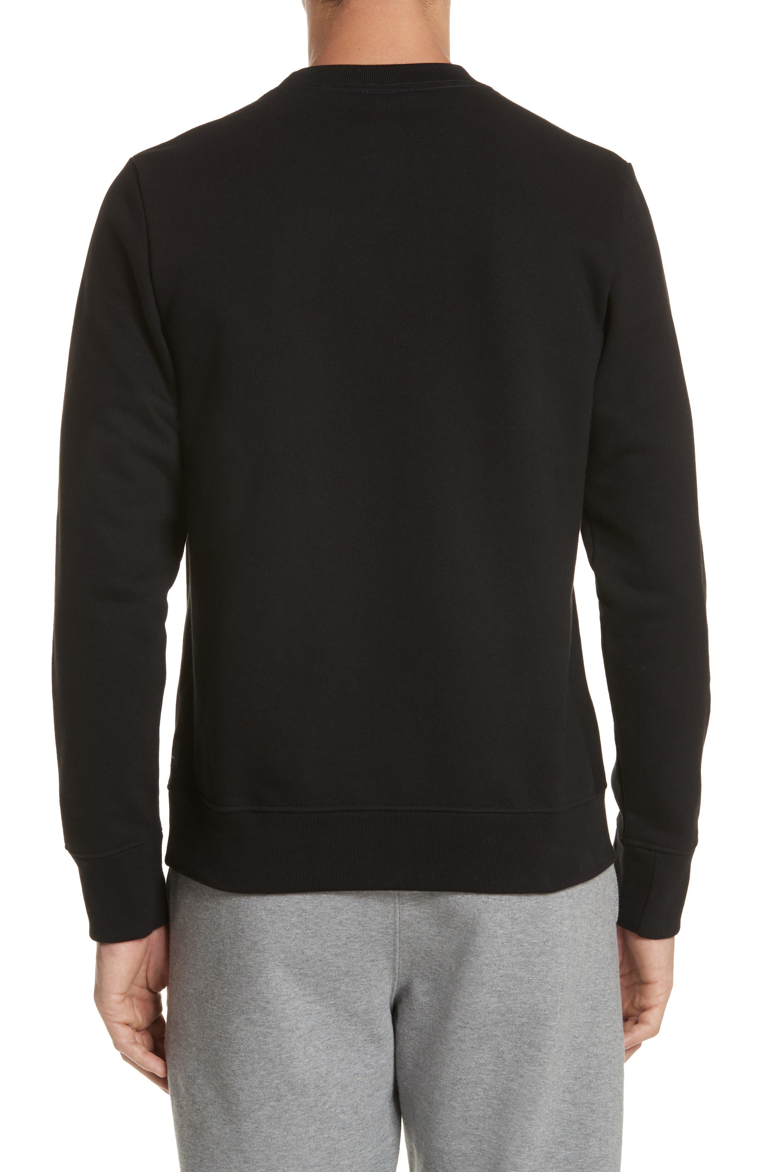 Abstract Brush Graphic Sweatshirt,                             Alternate thumbnail 2, color,                             001
