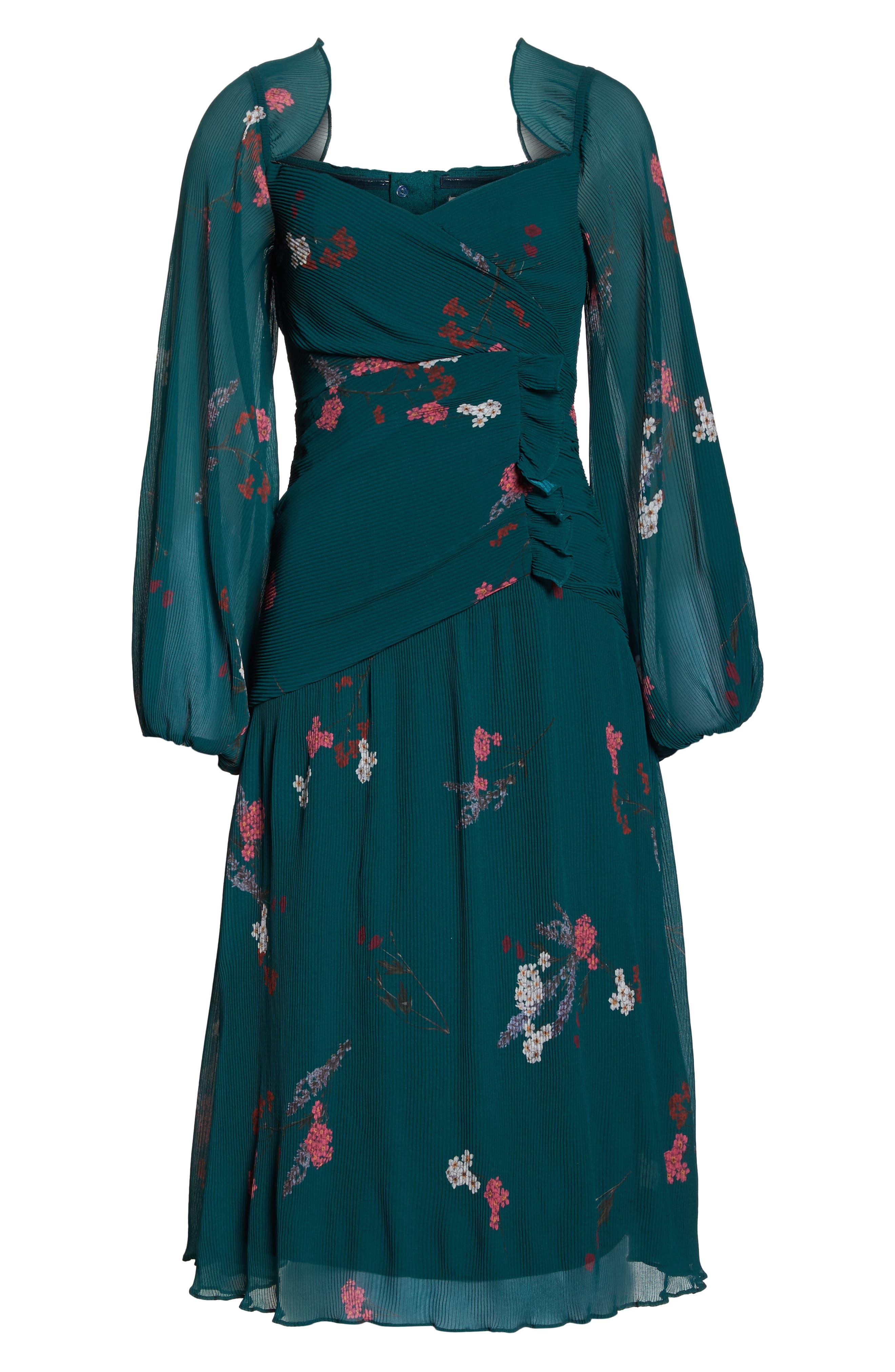 Night Fall Midi Dress,                             Alternate thumbnail 7, color,                             310