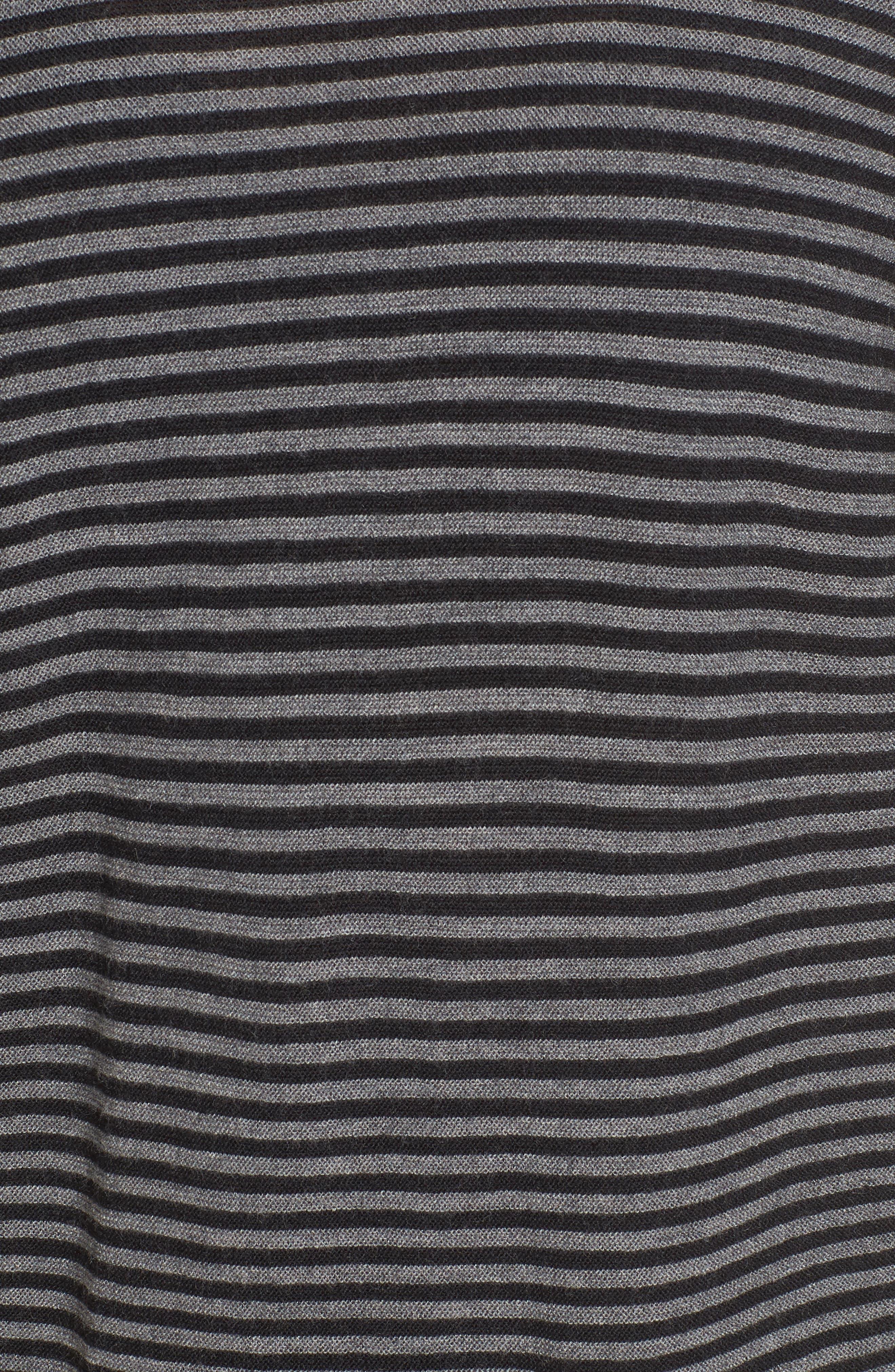 Stripe Merino Wool Tunic,                             Alternate thumbnail 5, color,                             028