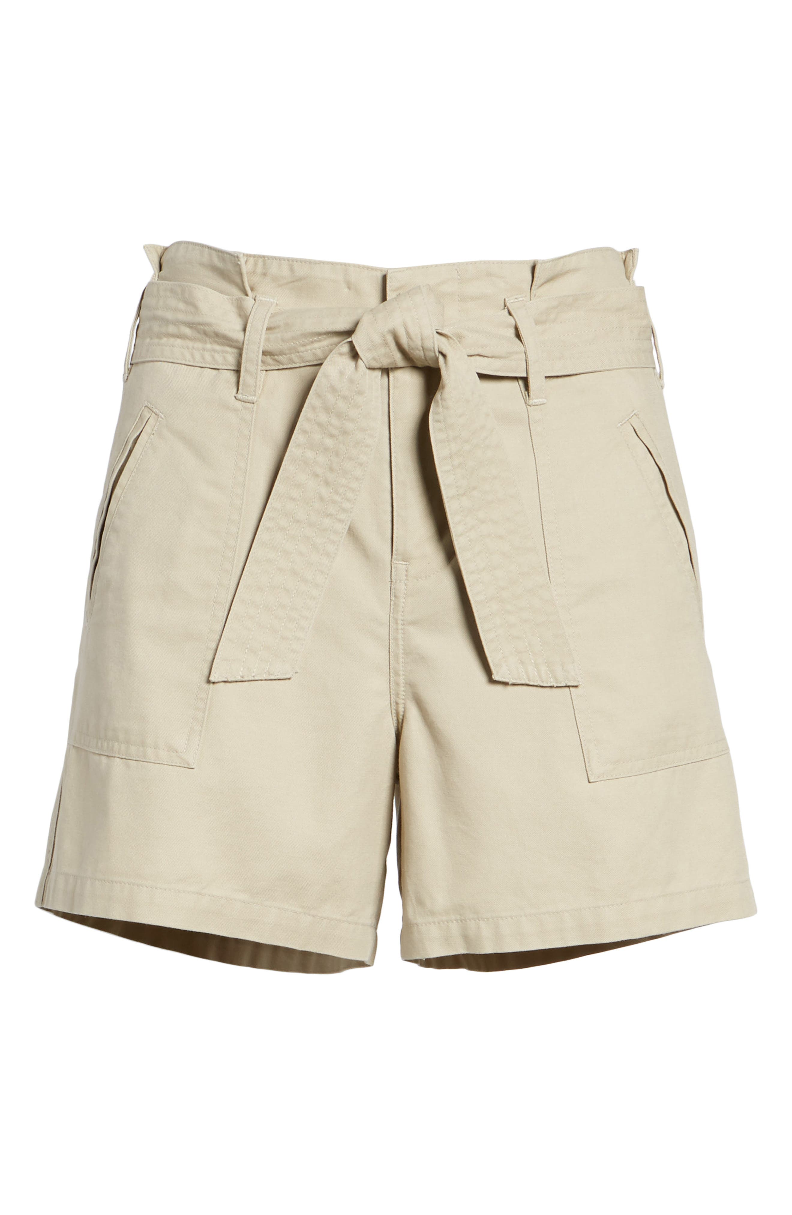 Belted Twill Shorts,                             Alternate thumbnail 17, color,