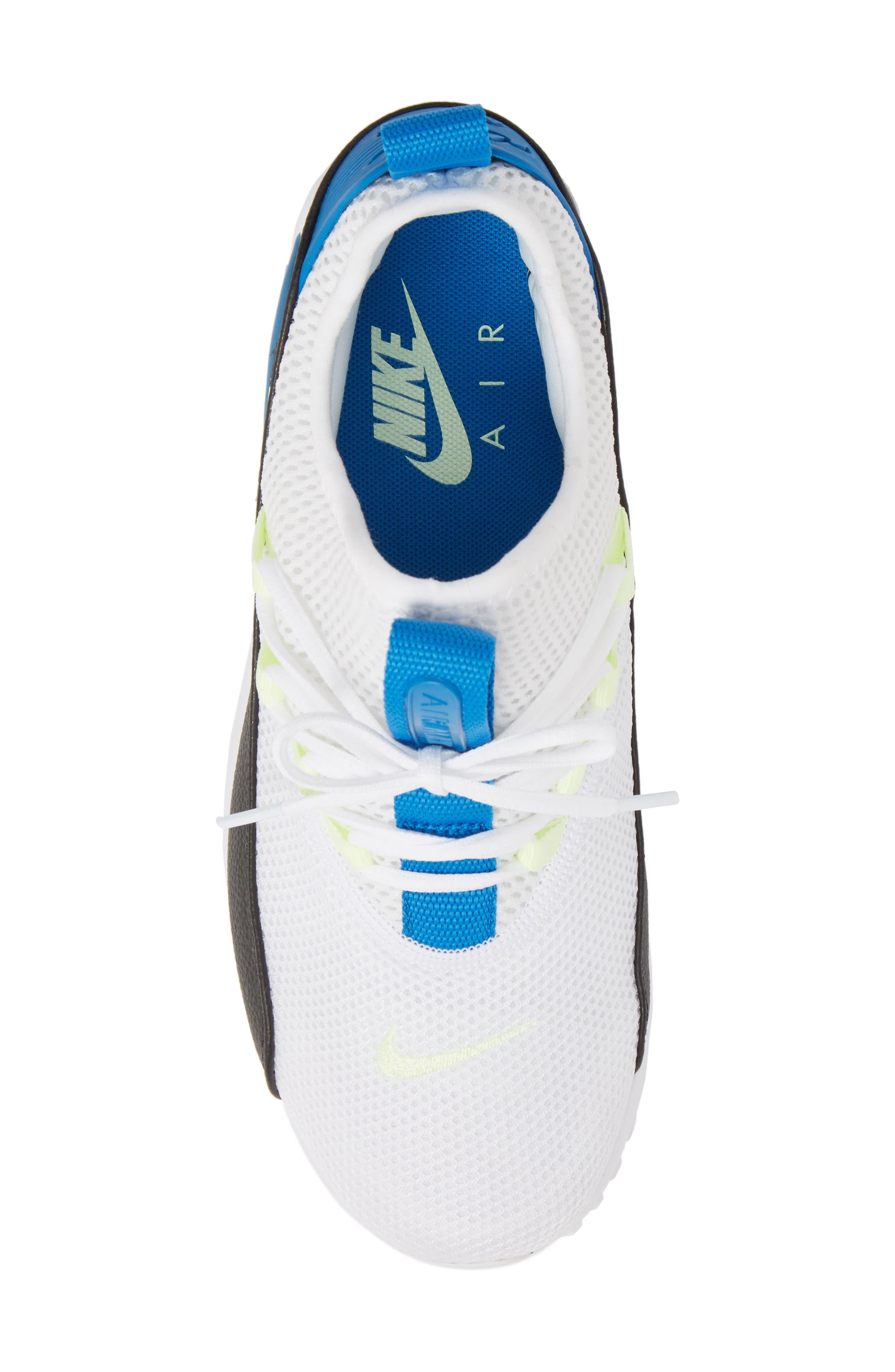 Air Max 90 EZ Sneaker,                             Alternate thumbnail 5, color,                             WHITE/ BLACK/ BLUE NEBULA