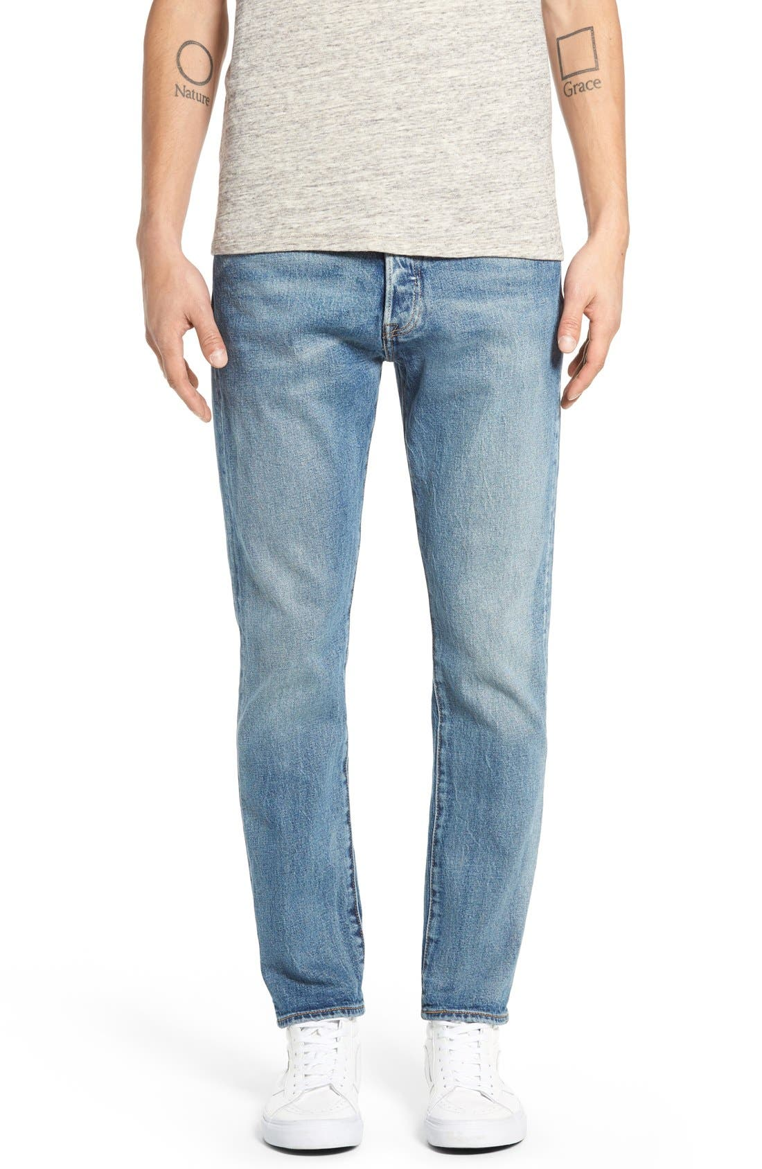LEVI'S<SUP>®</SUP> '501<sup>®</sup> CT' Custom Tapered Fit Jeans, Main, color, 405