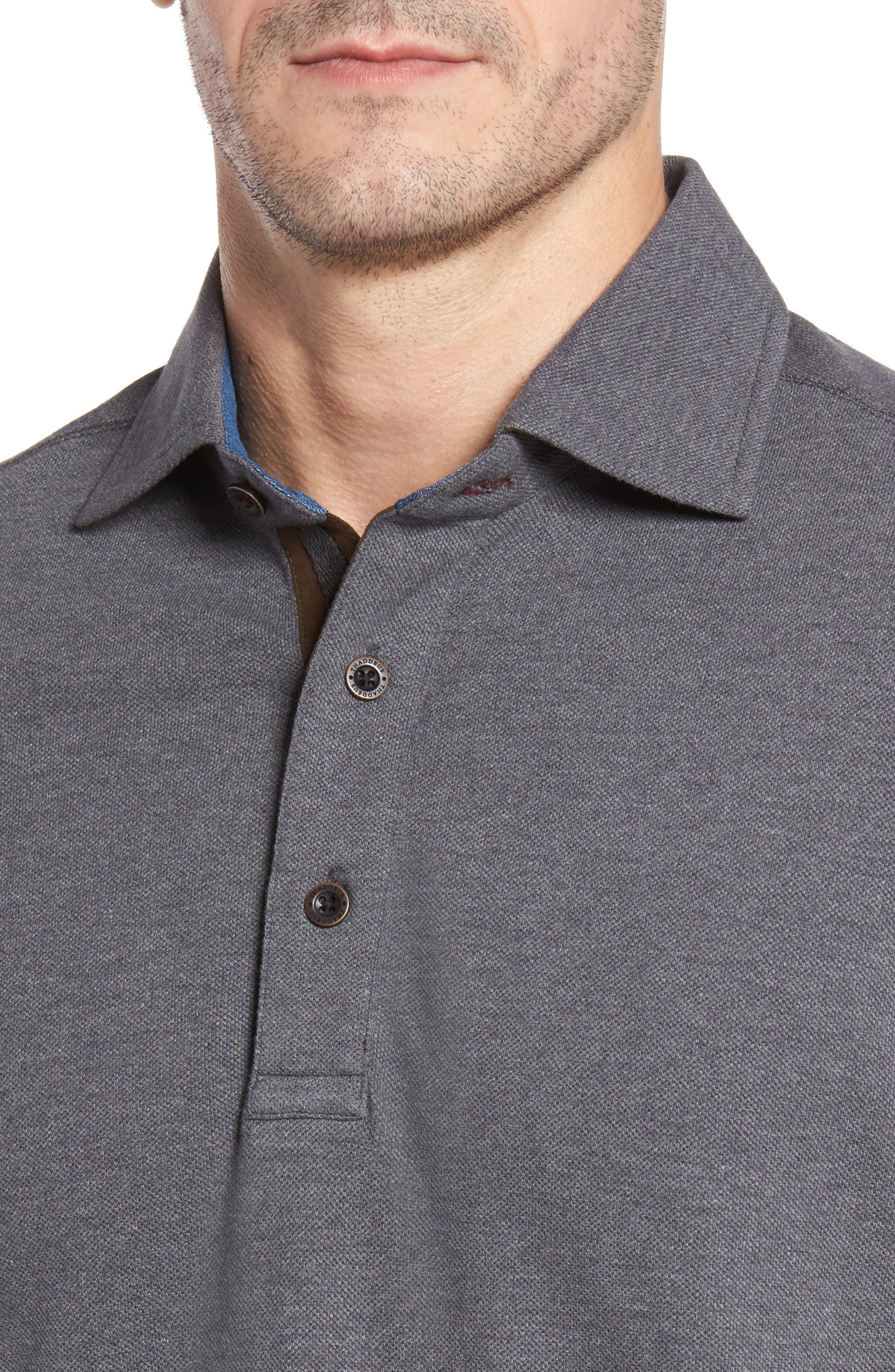 Perry Long Sleeve Polo,                             Alternate thumbnail 4, color,                             014