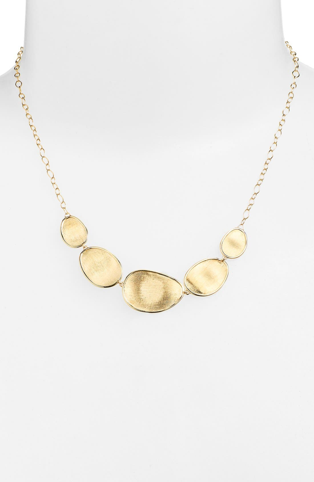 'Lunaria' Frontal Necklace,                         Main,                         color, YELLOW GOLD