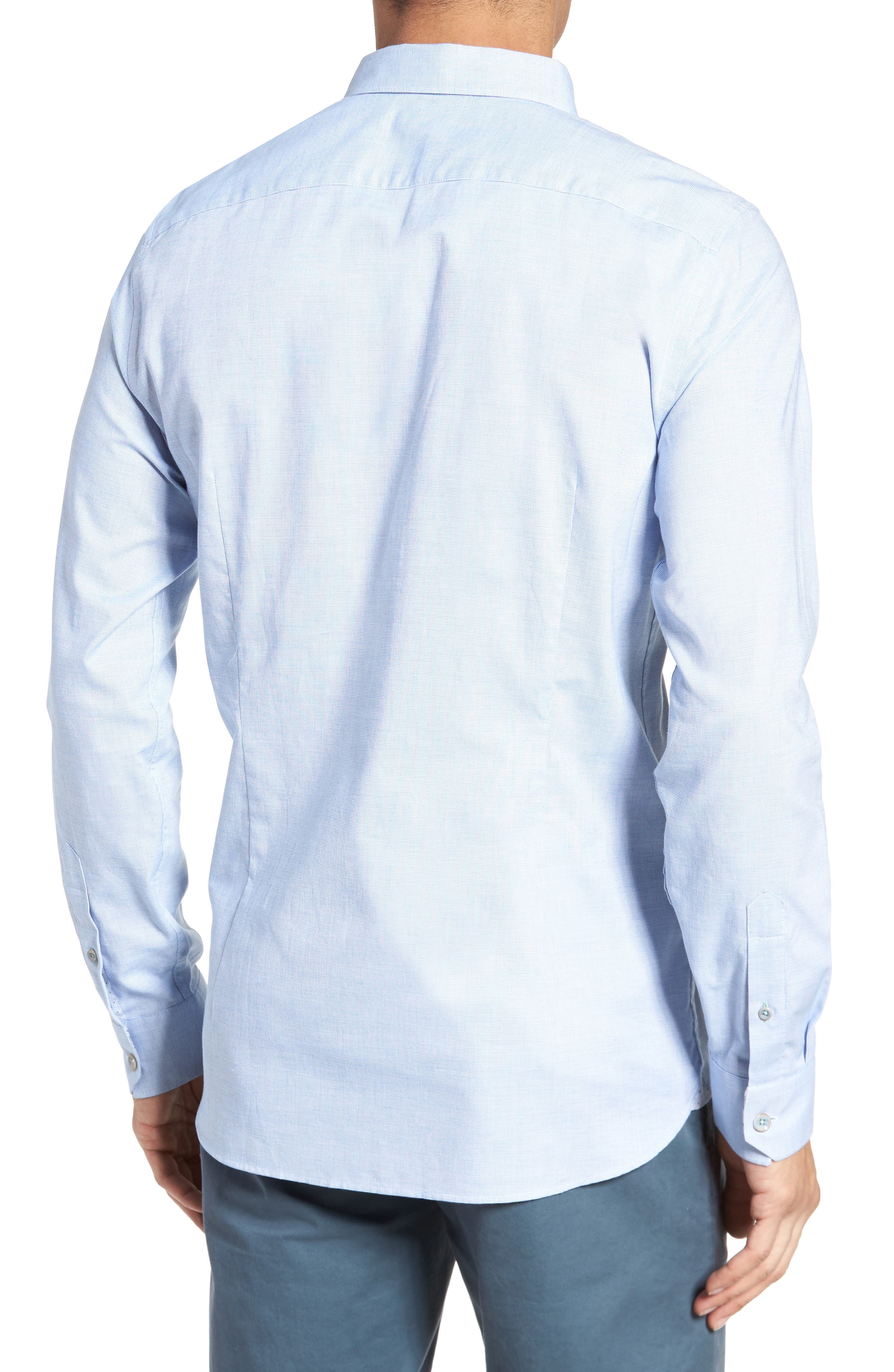 Slim Fit Textured Sport Shirt,                             Alternate thumbnail 8, color,