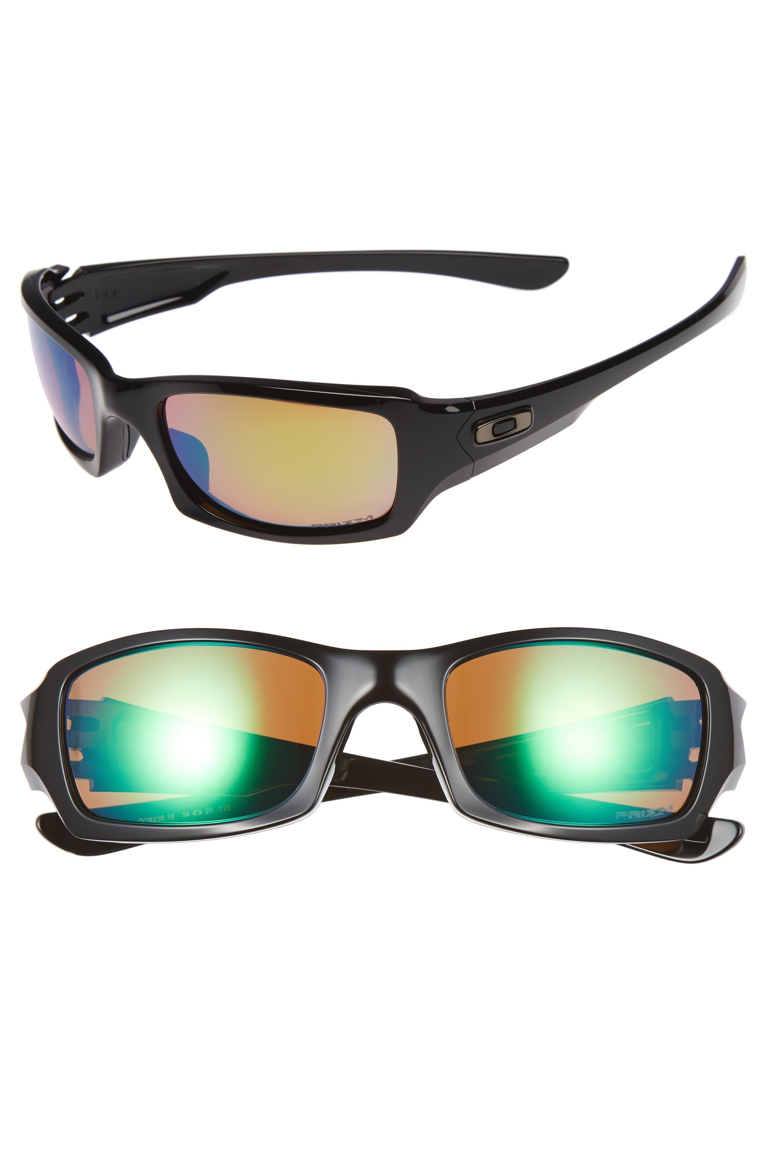 Fives Squared H2O 54mm Polarized Sunglasses,                         Main,                         color, BLACK
