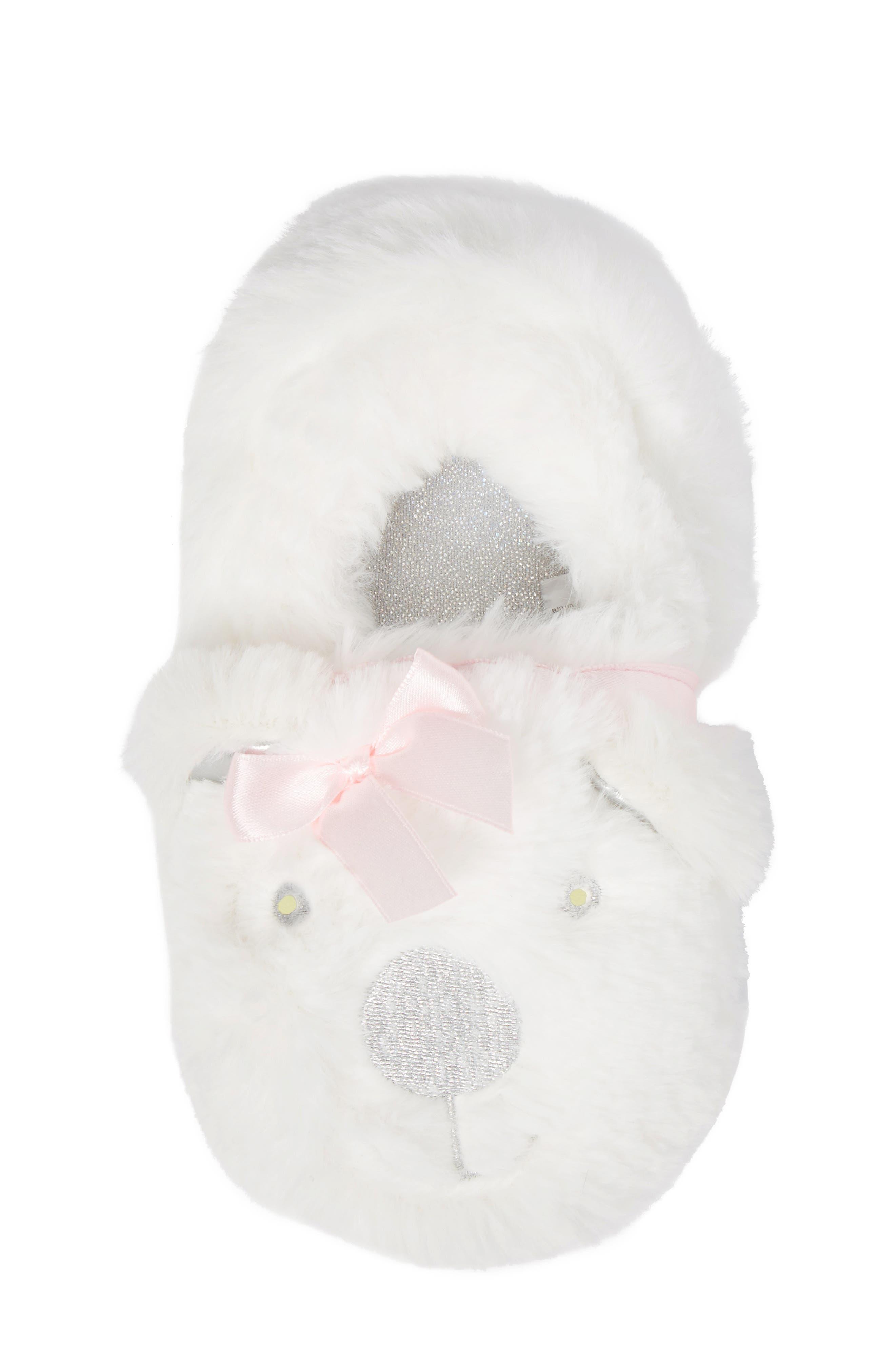 Light-Up Faux Fur Polar Bear Slipper,                             Alternate thumbnail 5, color,