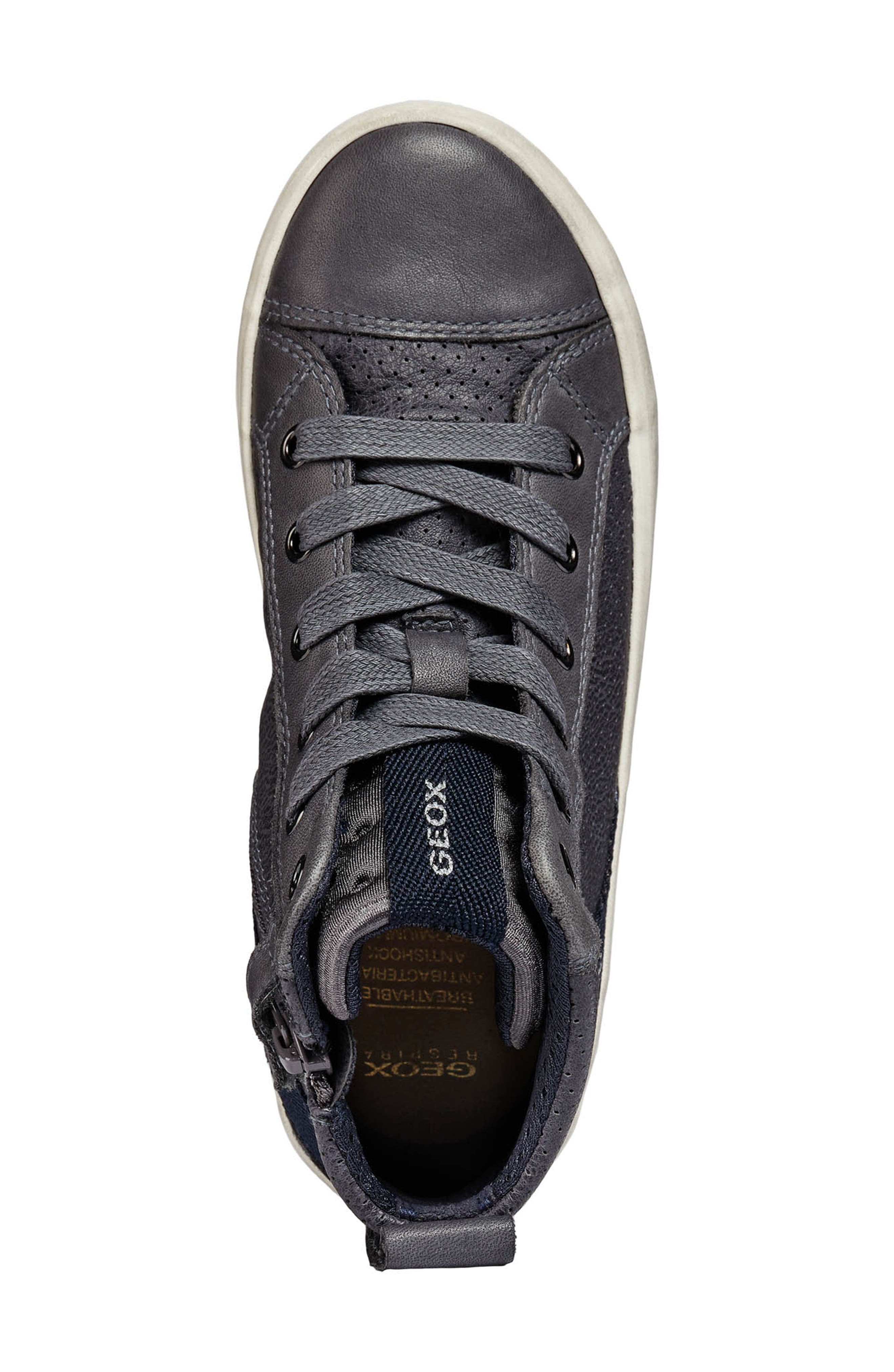 Alonisso High-Top Sneaker,                             Alternate thumbnail 4, color,                             GREY/DARK GREY