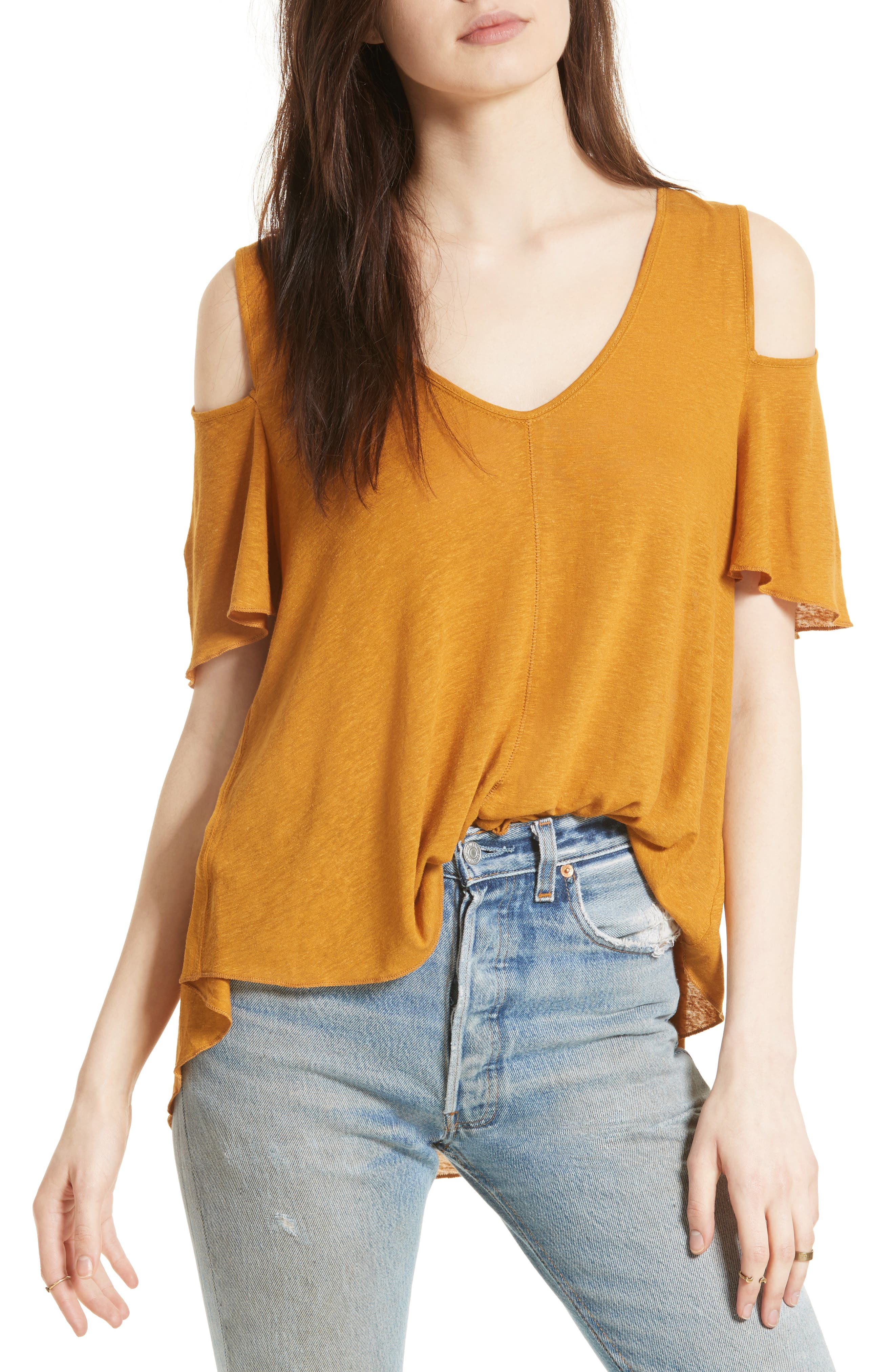 Bittersweet Cold Shoulder Top,                             Main thumbnail 9, color,