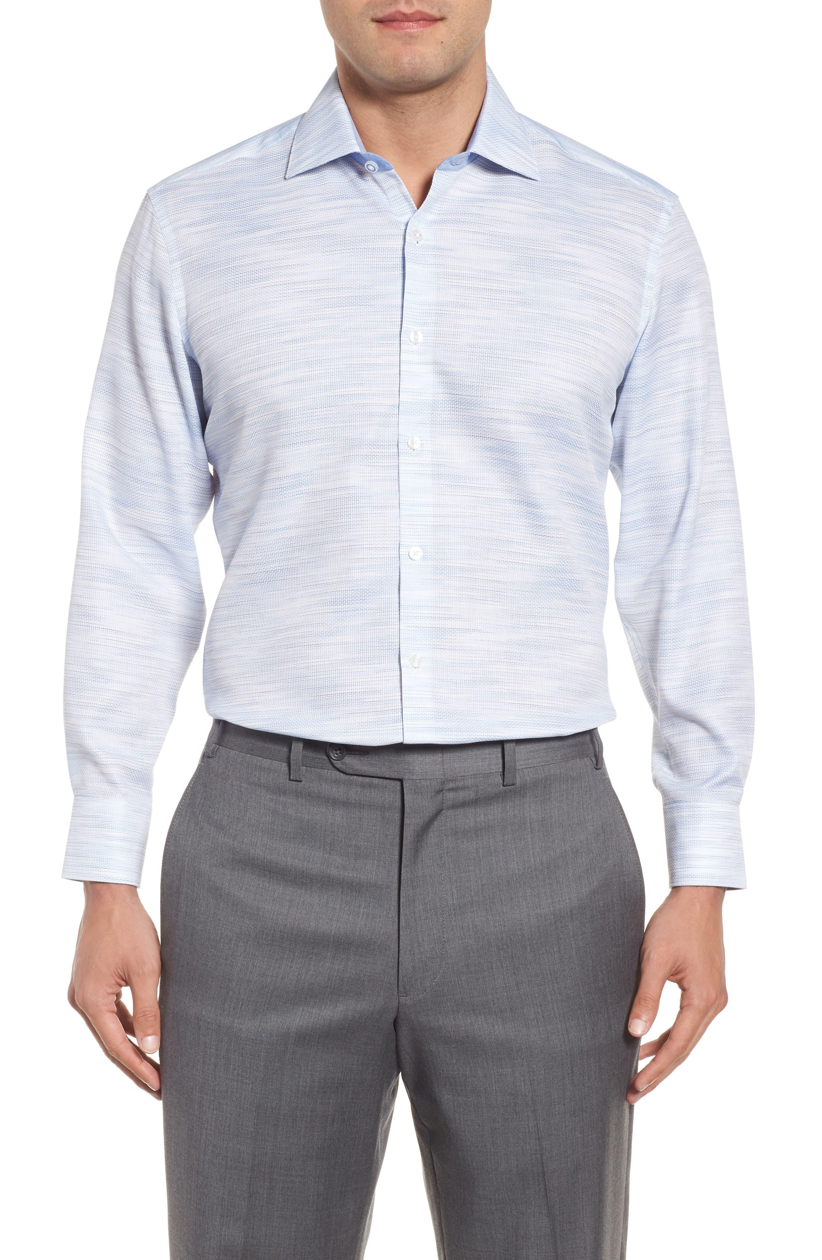 Trim Fit Solid Dress Shirt,                             Main thumbnail 1, color,                             400