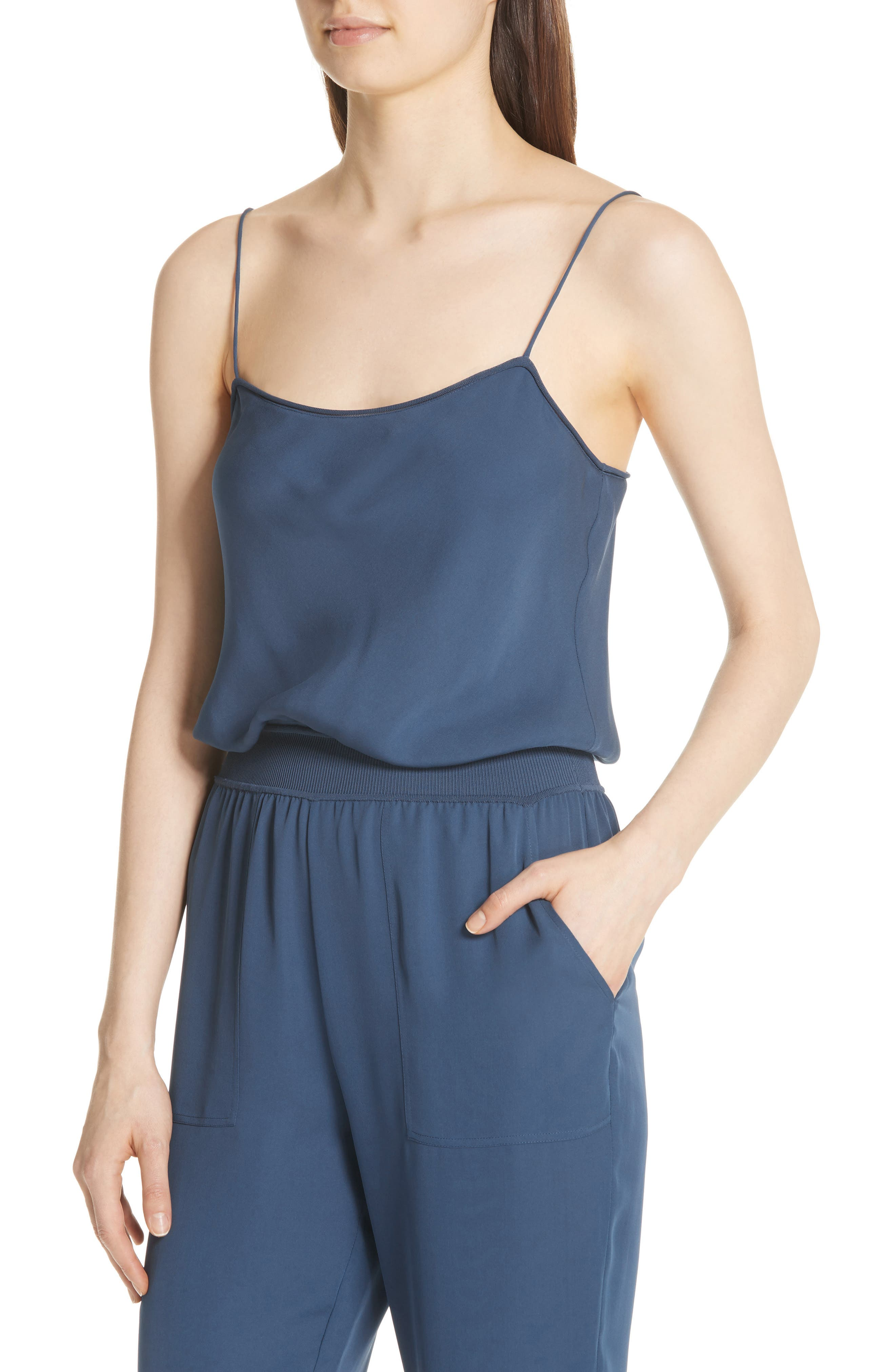 THEORY,                             Silk Romper,                             Alternate thumbnail 4, color,                             457