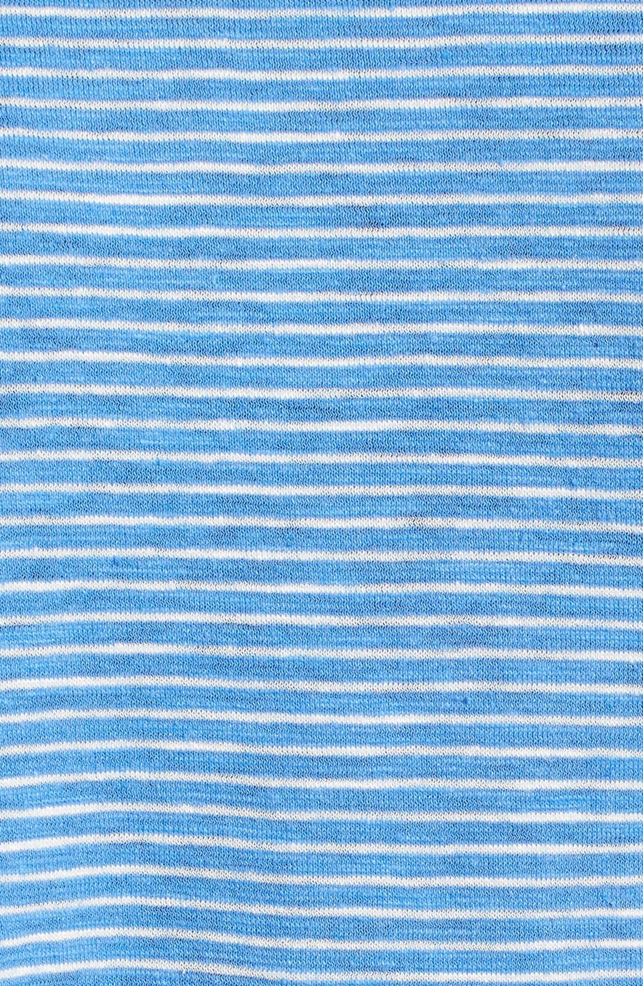EILEEN FISHER,                             Stripe Boxy Hemp & Organic Cotton Tee,                             Alternate thumbnail 6, color,                             405