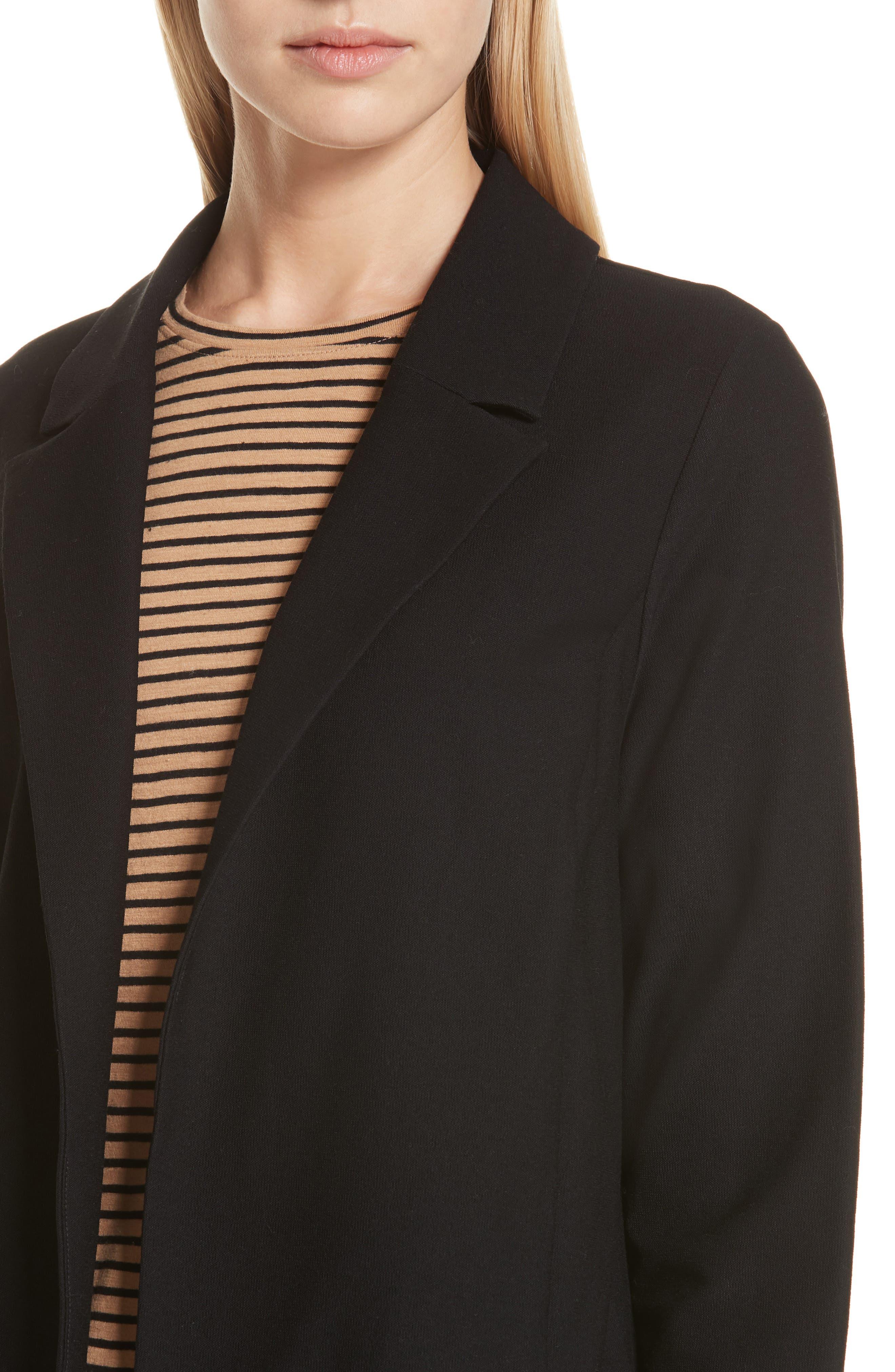 Classic Collar Jacket,                             Alternate thumbnail 4, color,                             BLACK