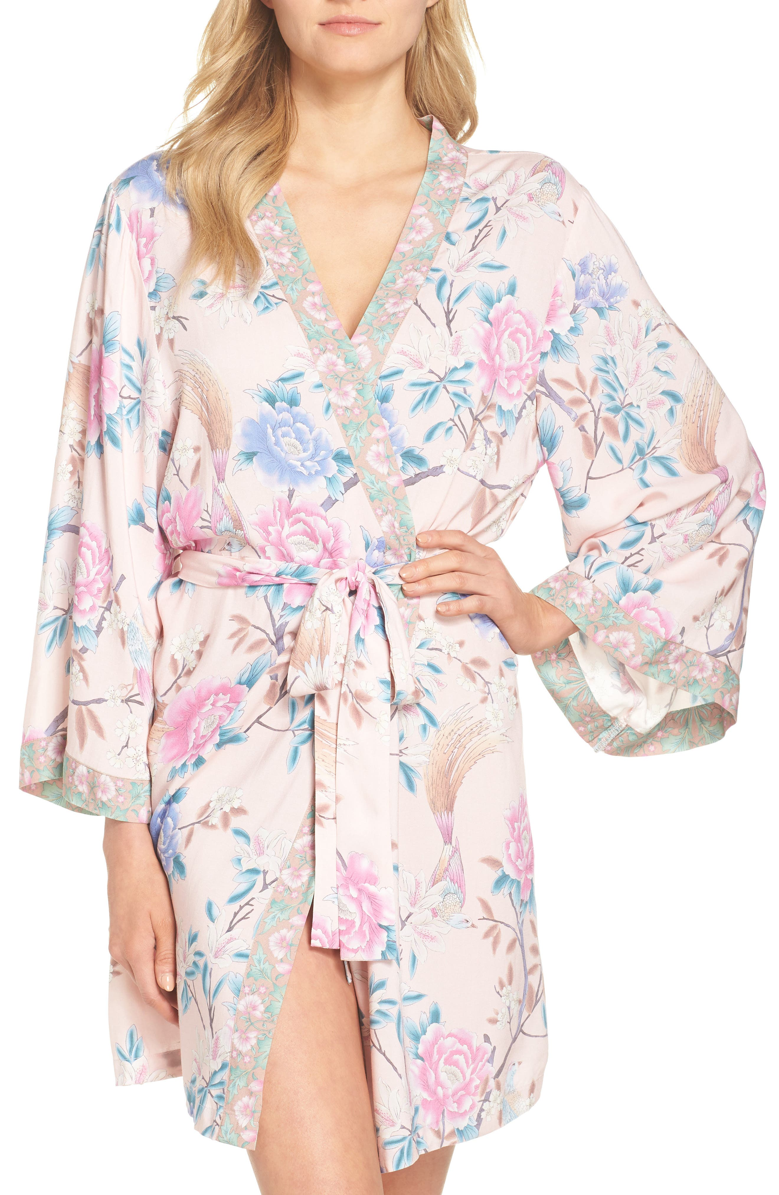 Talulah Boho Short Robe,                         Main,                         color,